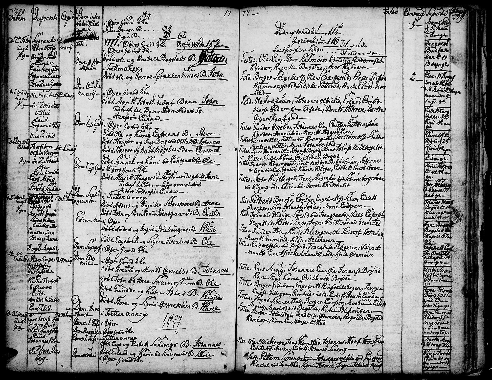 SAH, Øyer prestekontor, Ministerialbok nr. 2, 1733-1784, s. 278-279