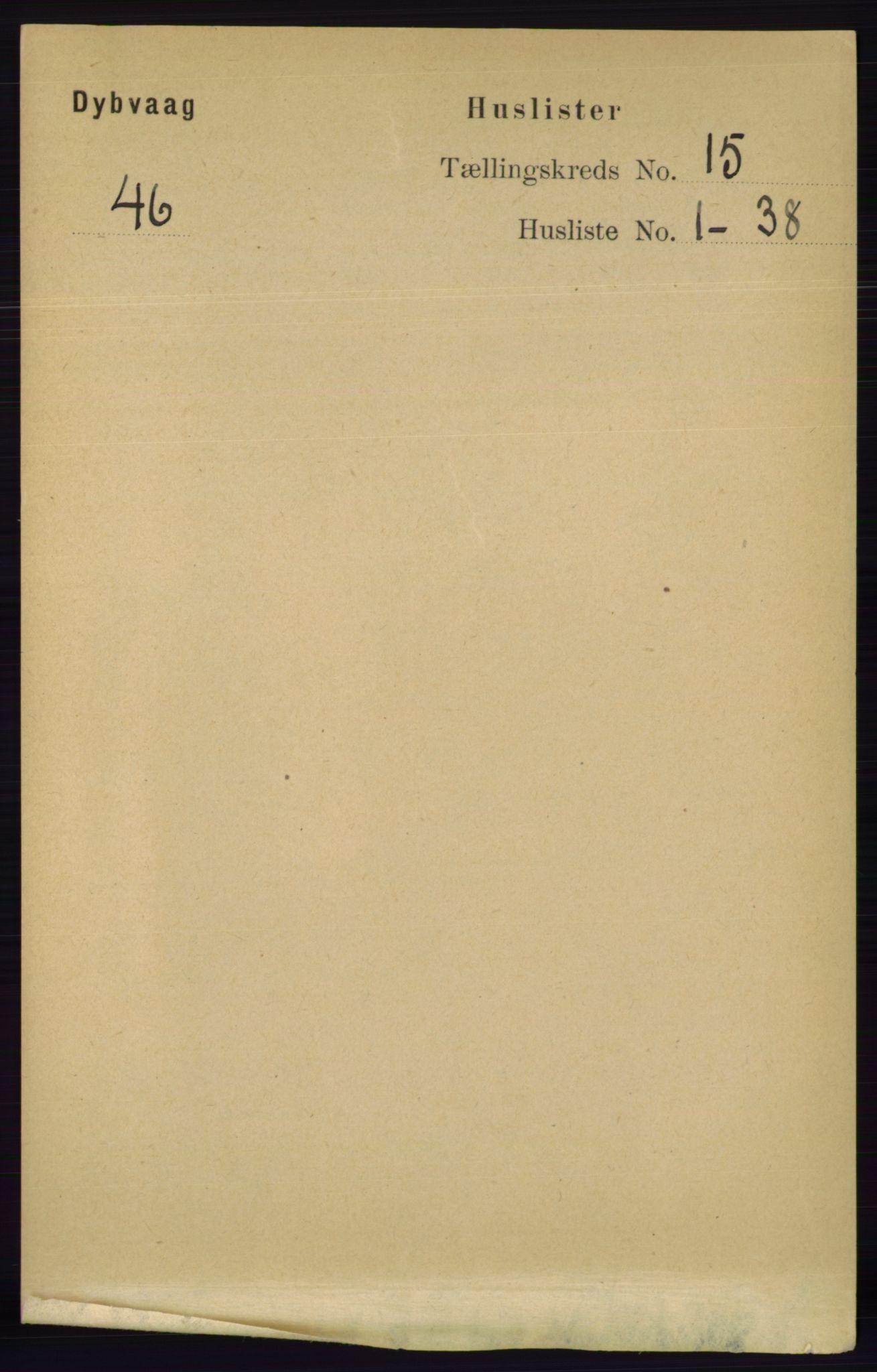 RA, Folketelling 1891 for 0915 Dypvåg herred, 1891, s. 6089
