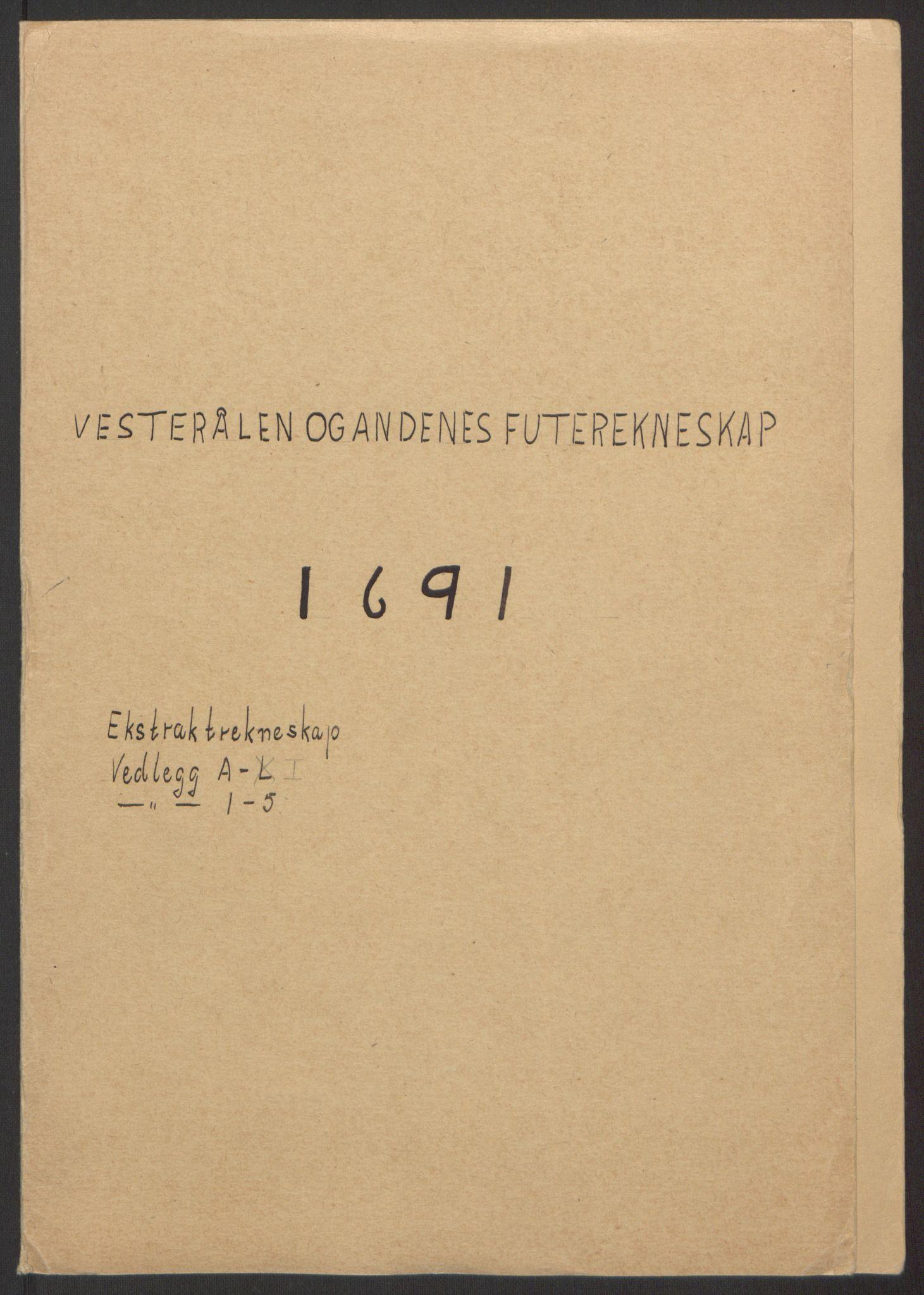 RA, Rentekammeret inntil 1814, Reviderte regnskaper, Fogderegnskap, R67/L4676: Fogderegnskap Vesterålen, Andenes og Lofoten, 1691-1693, s. 2