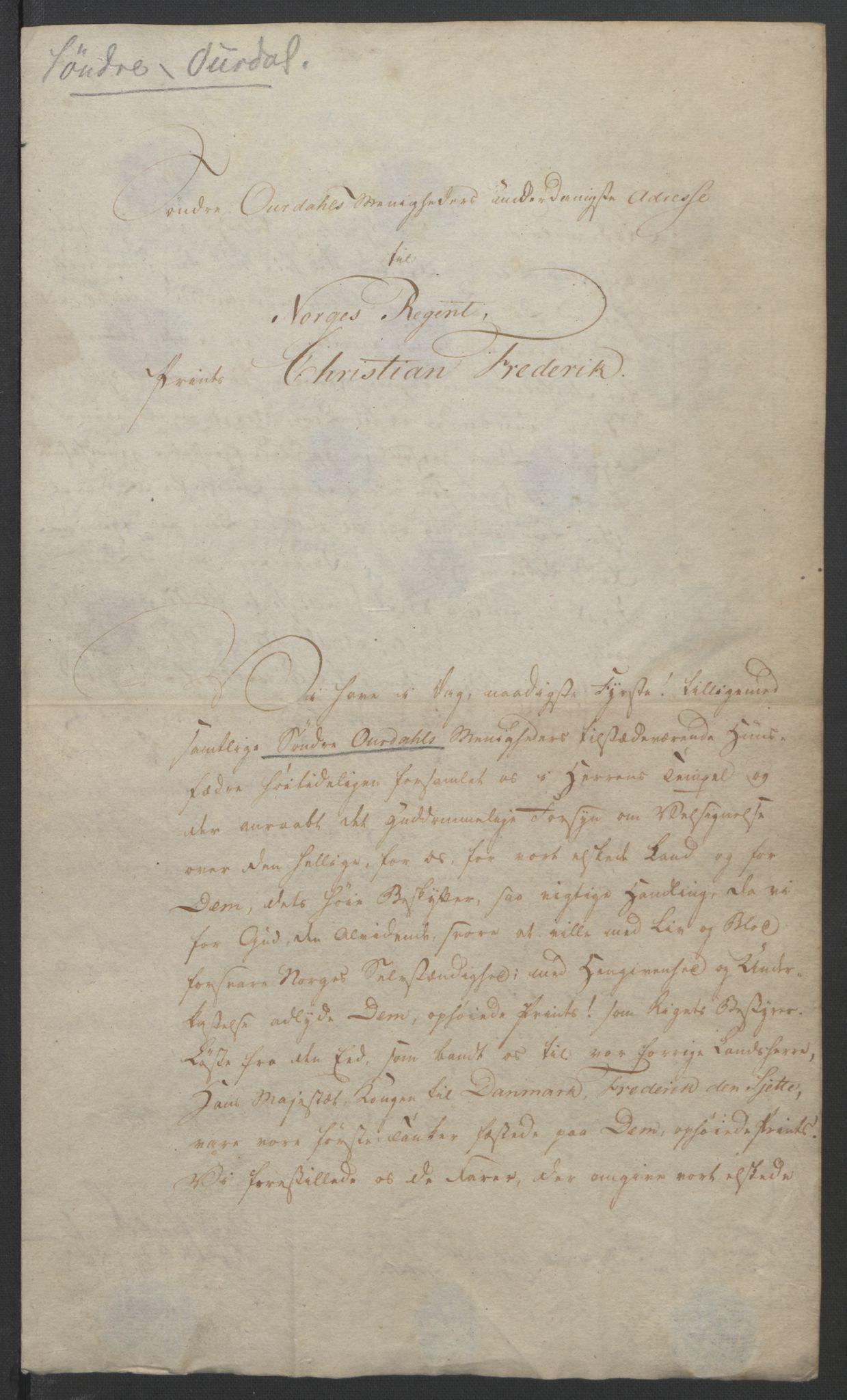 RA, Statsrådssekretariatet, D/Db/L0007: Fullmakter for Eidsvollsrepresentantene i 1814. , 1814, s. 284