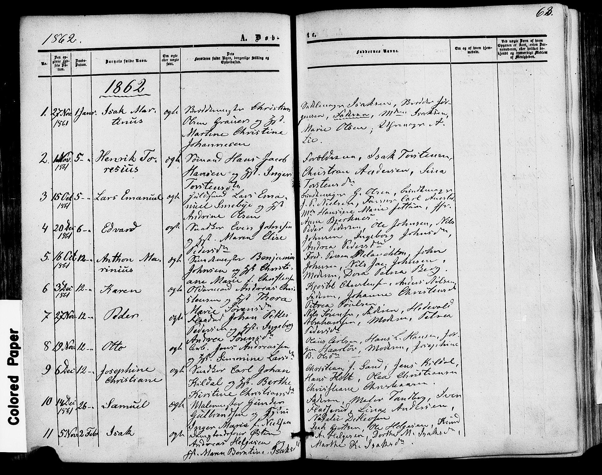 SAKO, Skien kirkebøker, F/Fa/L0007: Ministerialbok nr. 7, 1856-1865, s. 63