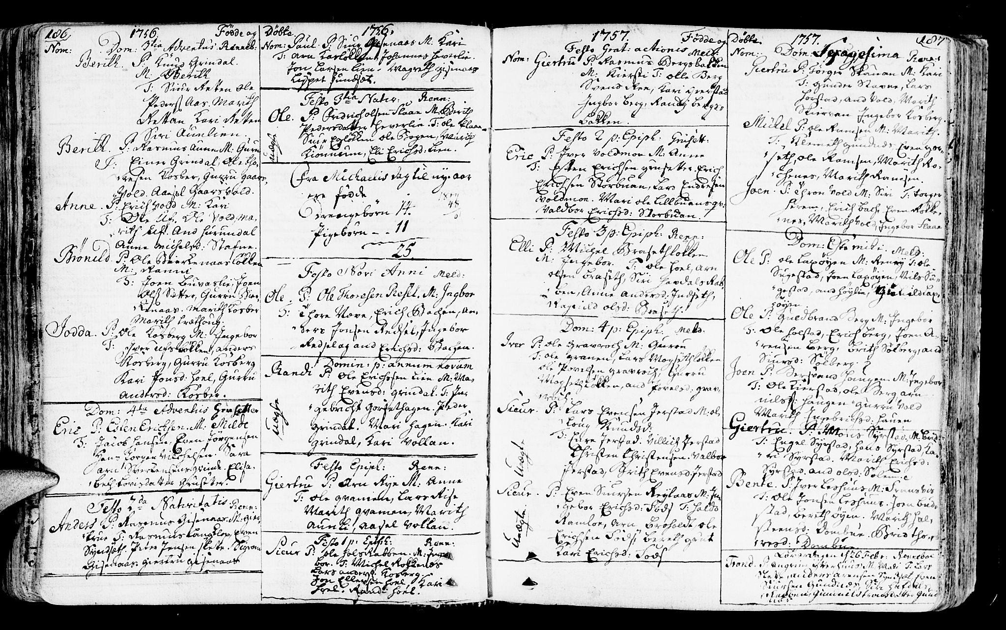 SAT, Ministerialprotokoller, klokkerbøker og fødselsregistre - Sør-Trøndelag, 672/L0851: Ministerialbok nr. 672A04, 1751-1775, s. 186-187