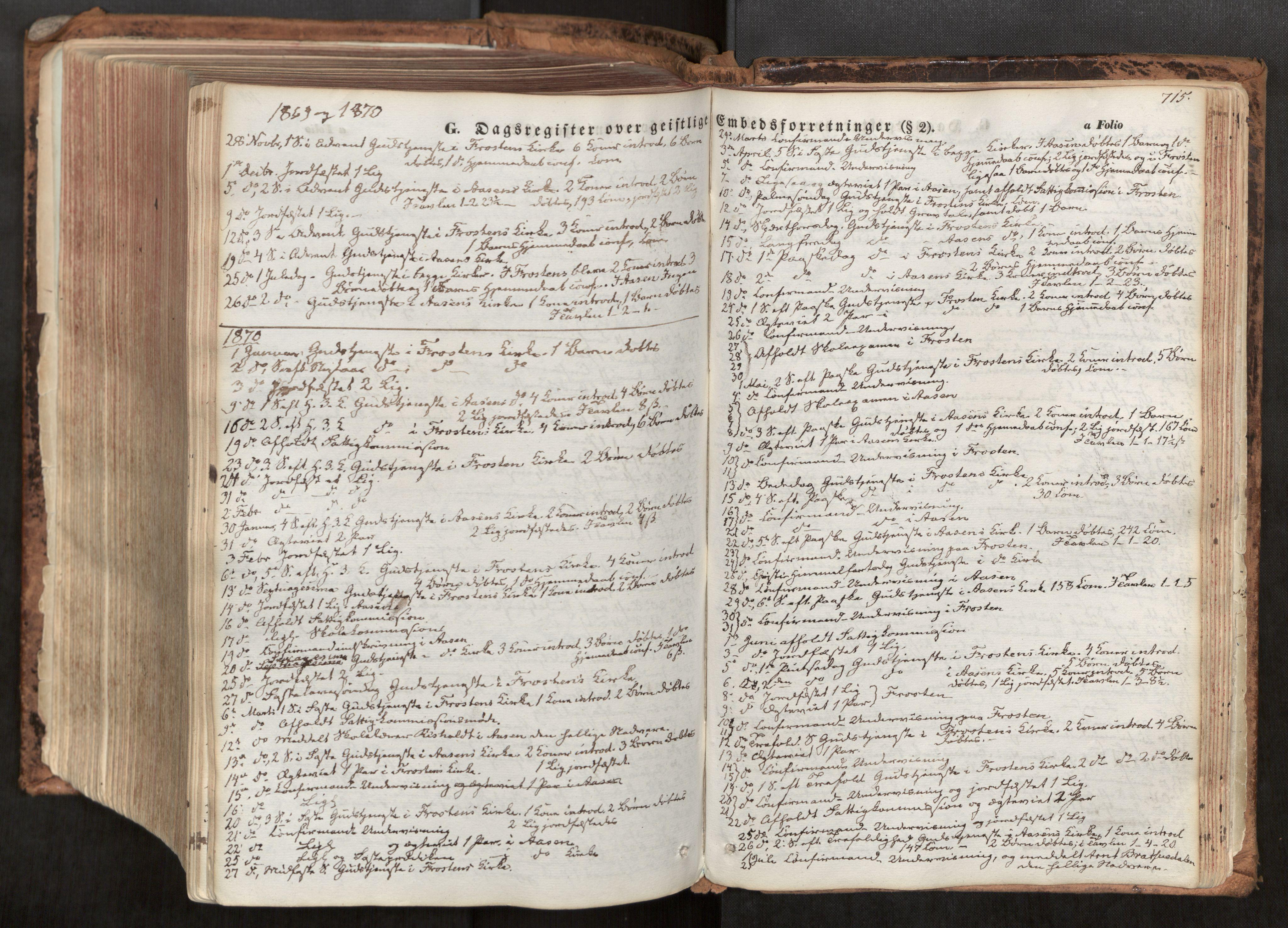 SAT, Ministerialprotokoller, klokkerbøker og fødselsregistre - Nord-Trøndelag, 713/L0116: Ministerialbok nr. 713A07, 1850-1877, s. 715