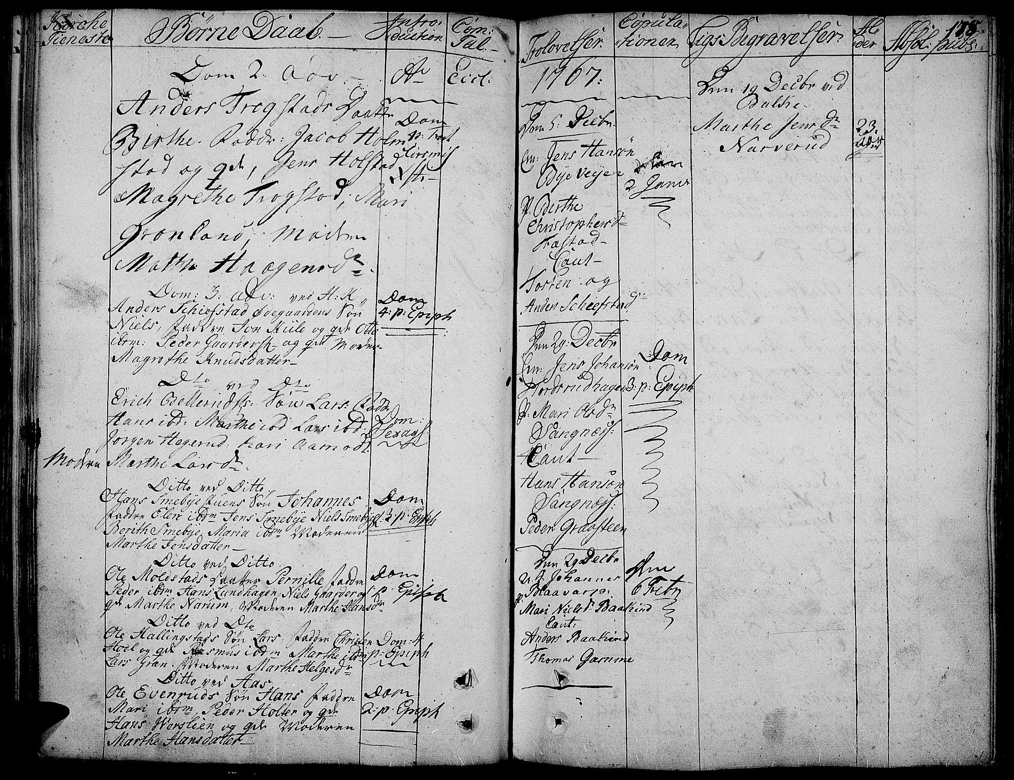 SAH, Toten prestekontor, Ministerialbok nr. 5, 1761-1772, s. 178