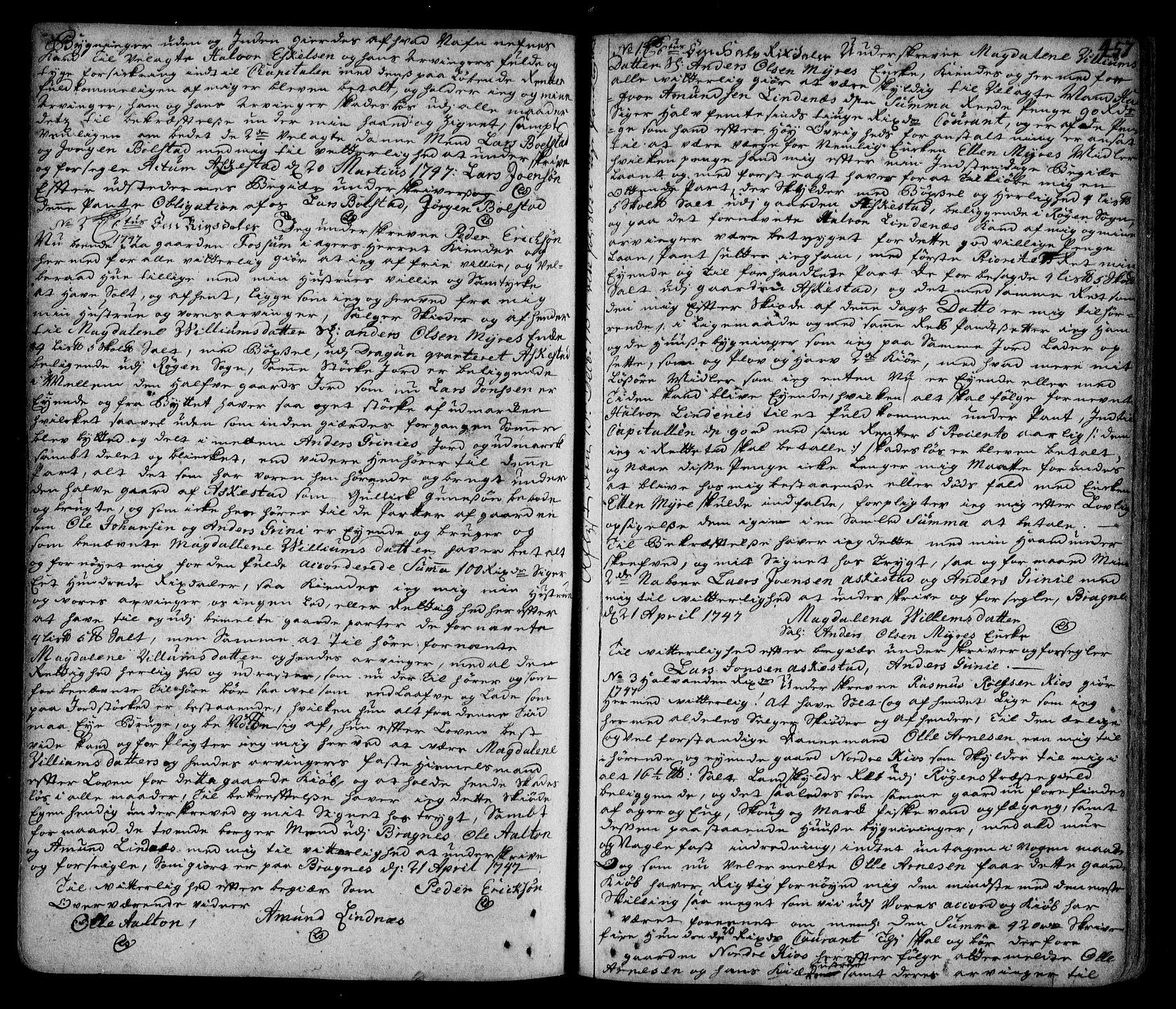 SAKO, Lier, Røyken og Hurum sorenskriveri, G/Ga/Gaa/L0002: Pantebok nr. II, 1725-1755, s. 457