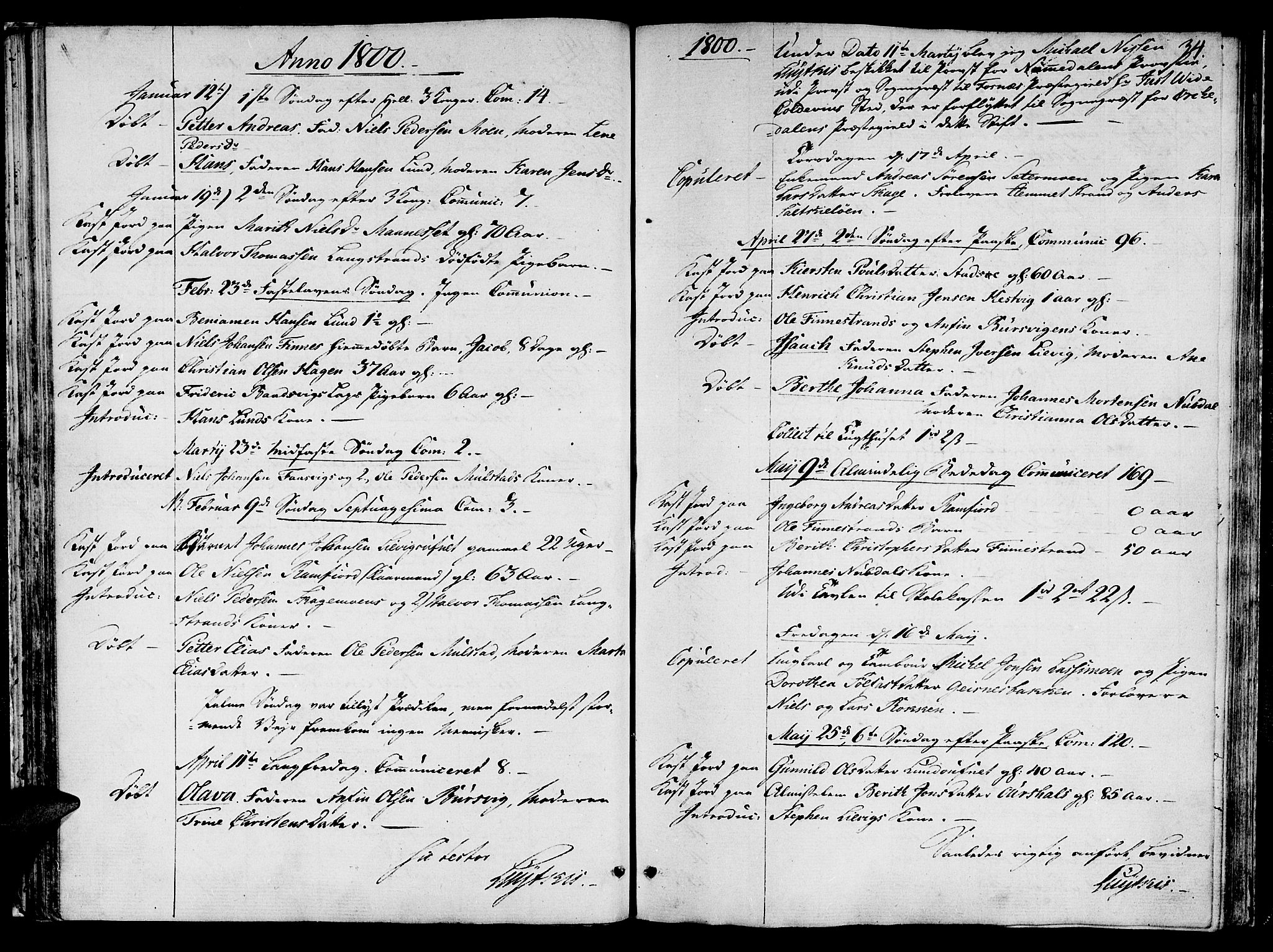 SAT, Ministerialprotokoller, klokkerbøker og fødselsregistre - Nord-Trøndelag, 780/L0633: Ministerialbok nr. 780A02 /1, 1787-1814, s. 34