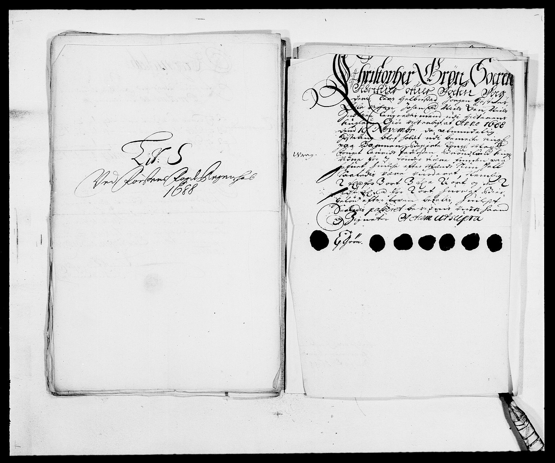 RA, Rentekammeret inntil 1814, Reviderte regnskaper, Fogderegnskap, R57/L3846: Fogderegnskap Fosen, 1688, s. 193