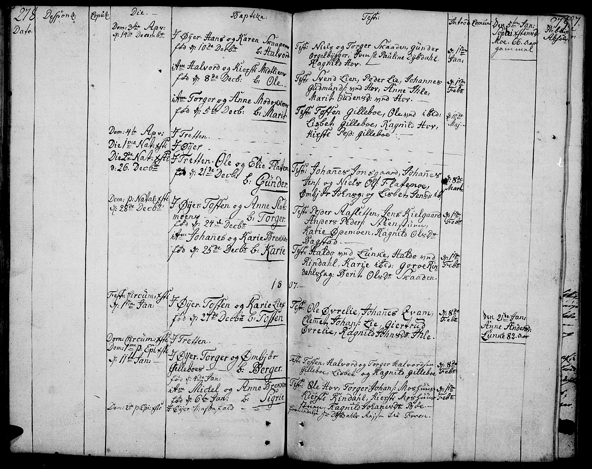 SAH, Øyer prestekontor, Ministerialbok nr. 3, 1784-1824, s. 278-279