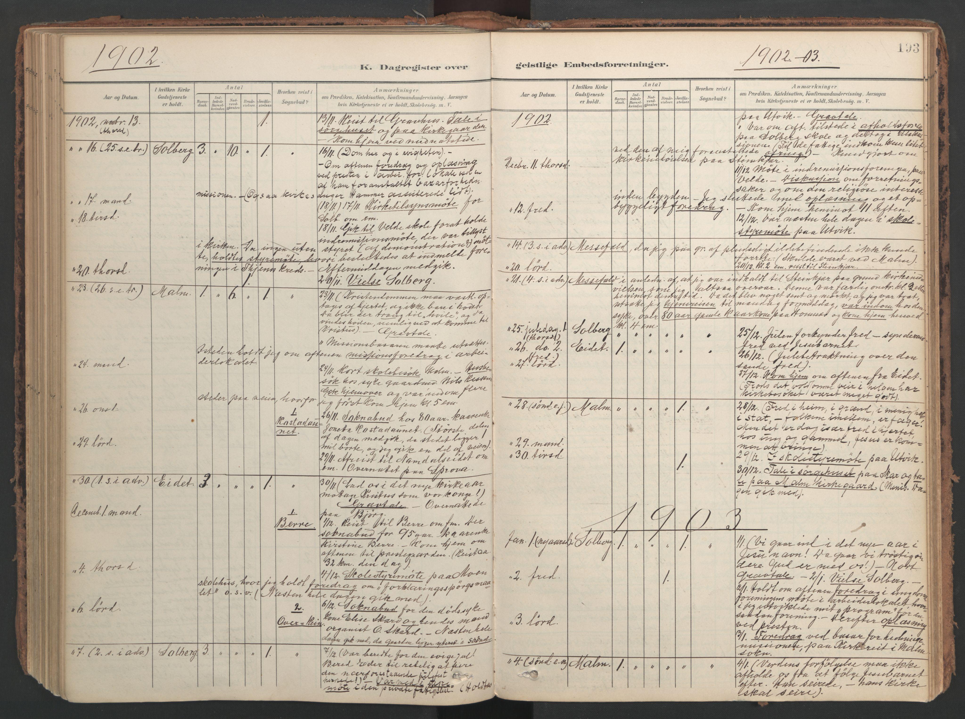 SAT, Ministerialprotokoller, klokkerbøker og fødselsregistre - Nord-Trøndelag, 741/L0397: Ministerialbok nr. 741A11, 1901-1911, s. 193