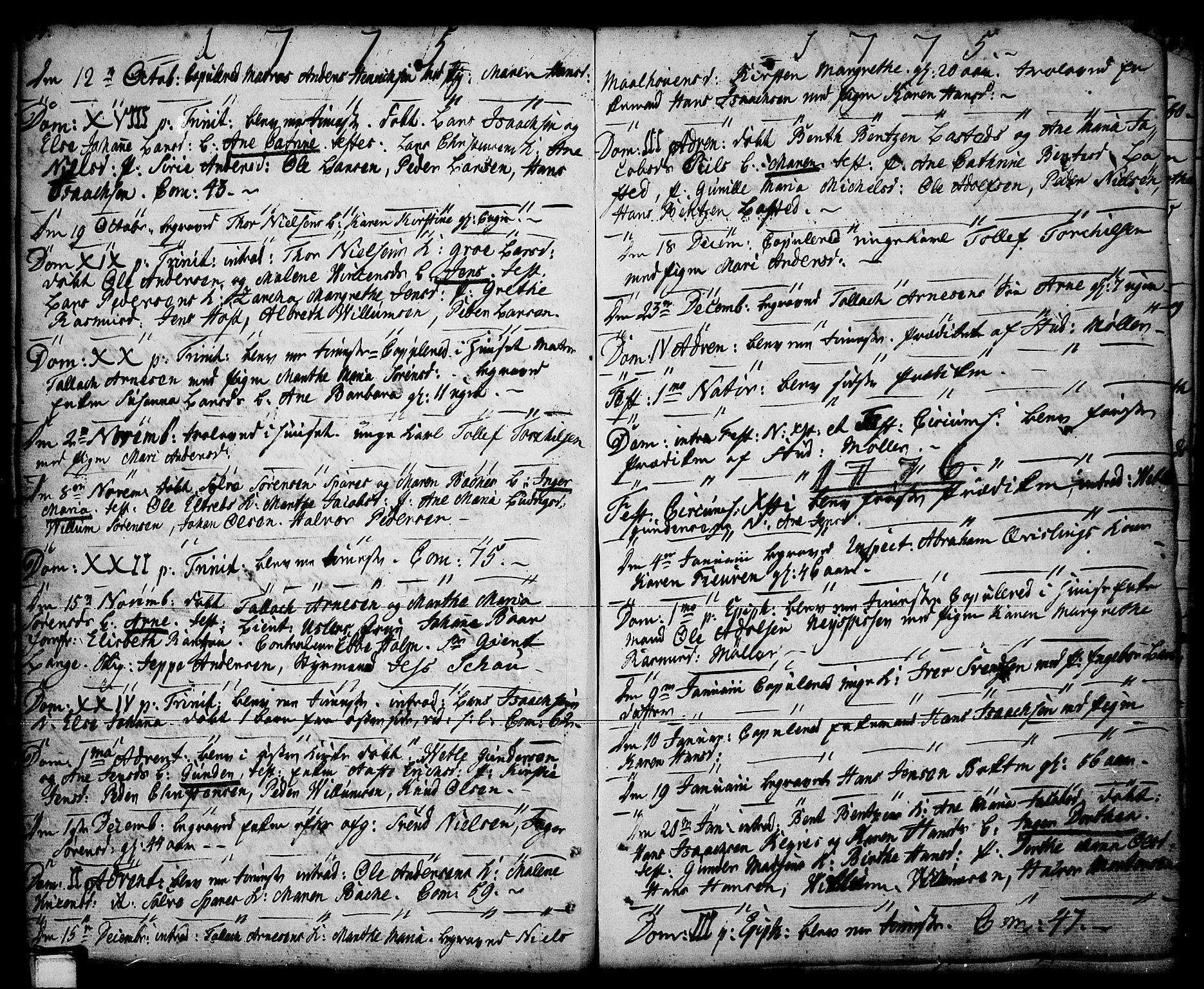 SAKO, Porsgrunn kirkebøker , F/Fa/L0001: Ministerialbok nr. 1, 1764-1814, s. 64-65