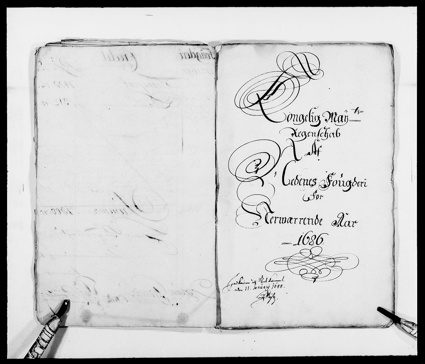 RA, Rentekammeret inntil 1814, Reviderte regnskaper, Fogderegnskap, R39/L2307: Fogderegnskap Nedenes, 1684-1689, s. 28