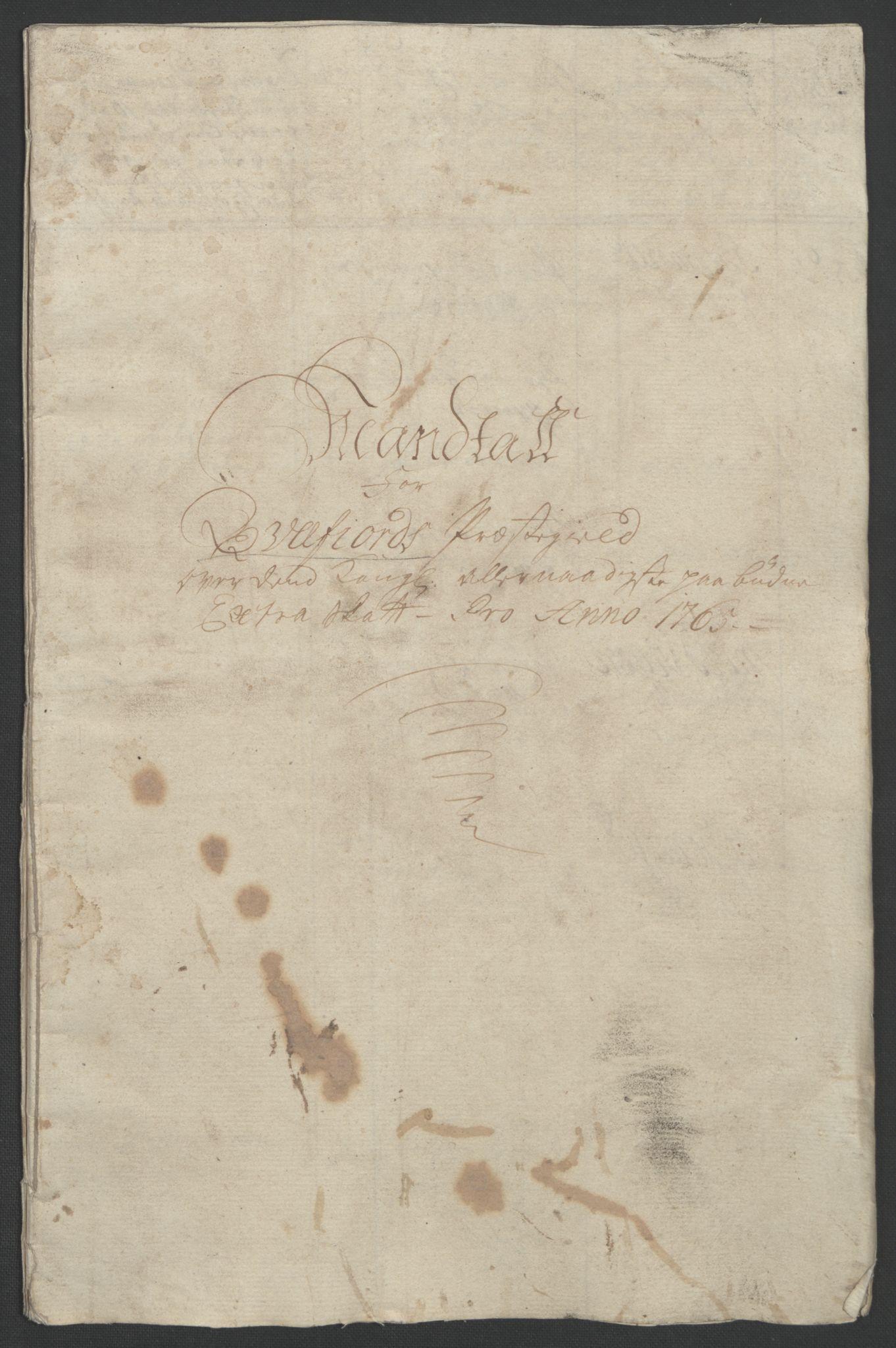 RA, Rentekammeret inntil 1814, Realistisk ordnet avdeling, Ol/L0022b: [Gg 10]: Ekstraskatten, 23.09.1762. Senja og Troms, 1765-1768, s. 39