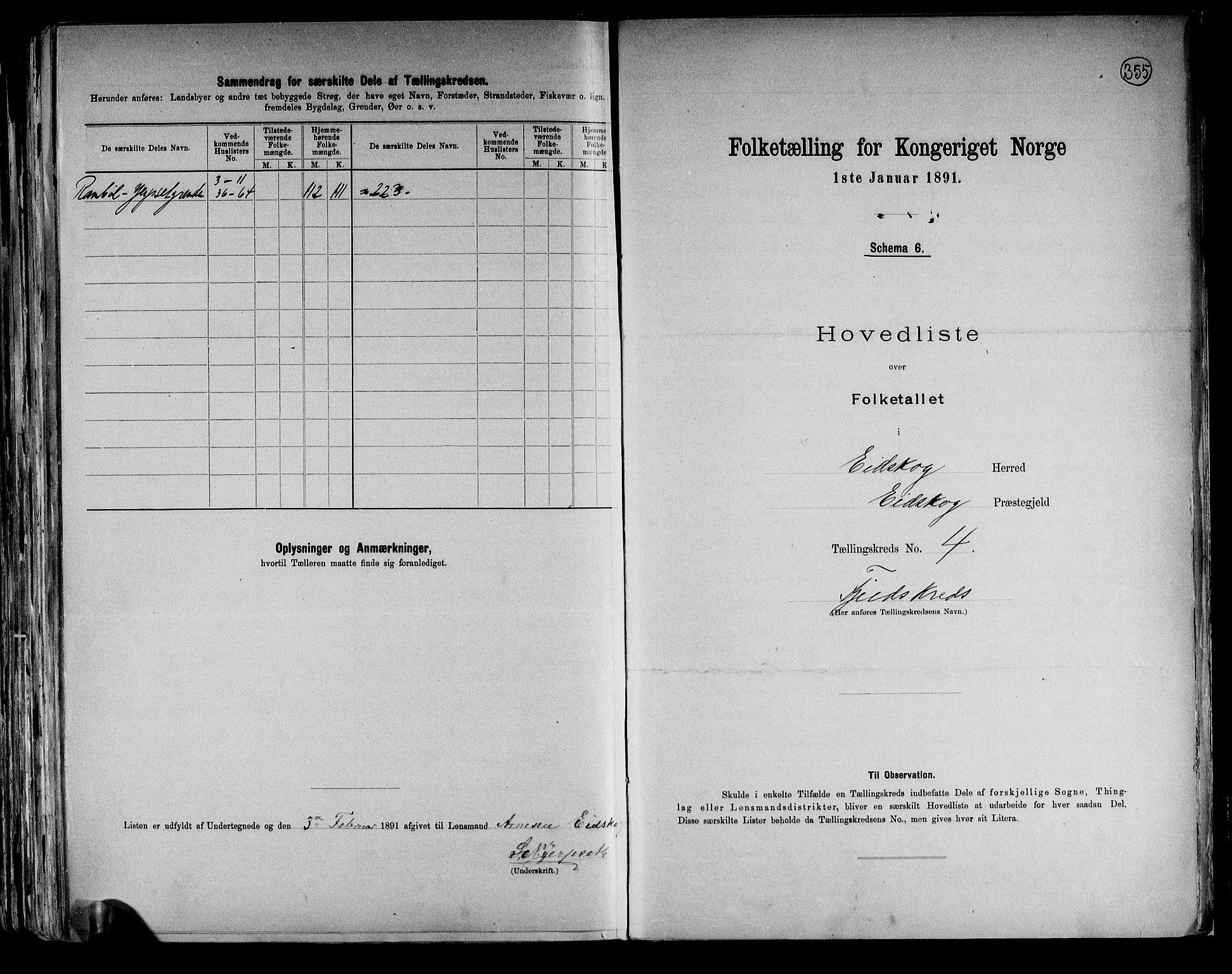 RA, Folketelling 1891 for 0420 Eidskog herred, 1891, s. 11