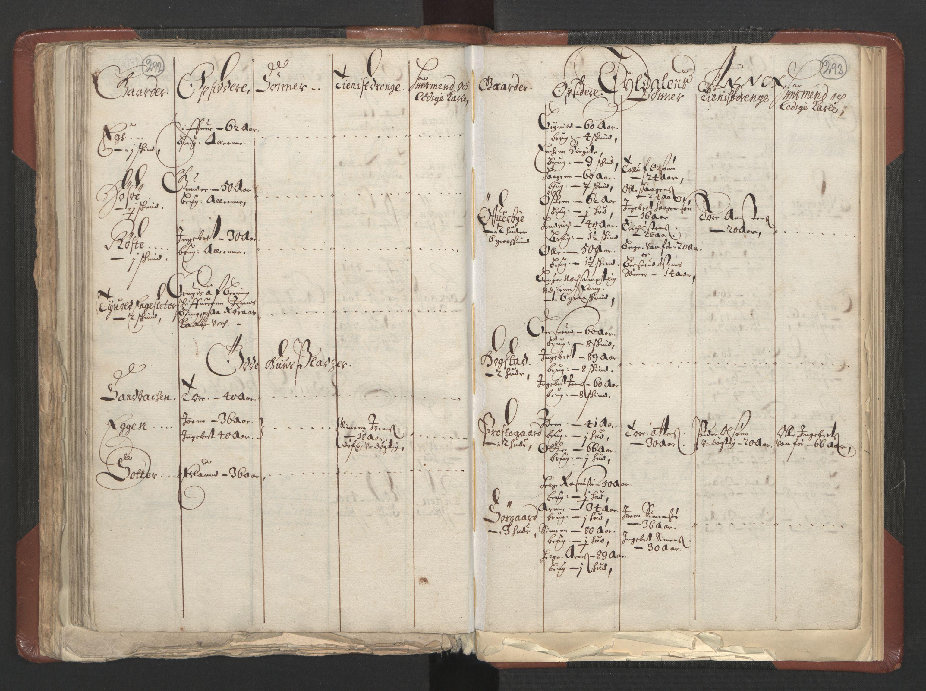 RA, Fogdenes og sorenskrivernes manntall 1664-1666, nr. 3: Hedmark fogderi og Solør, Østerdal og Odal fogderi, 1664, s. 292-293