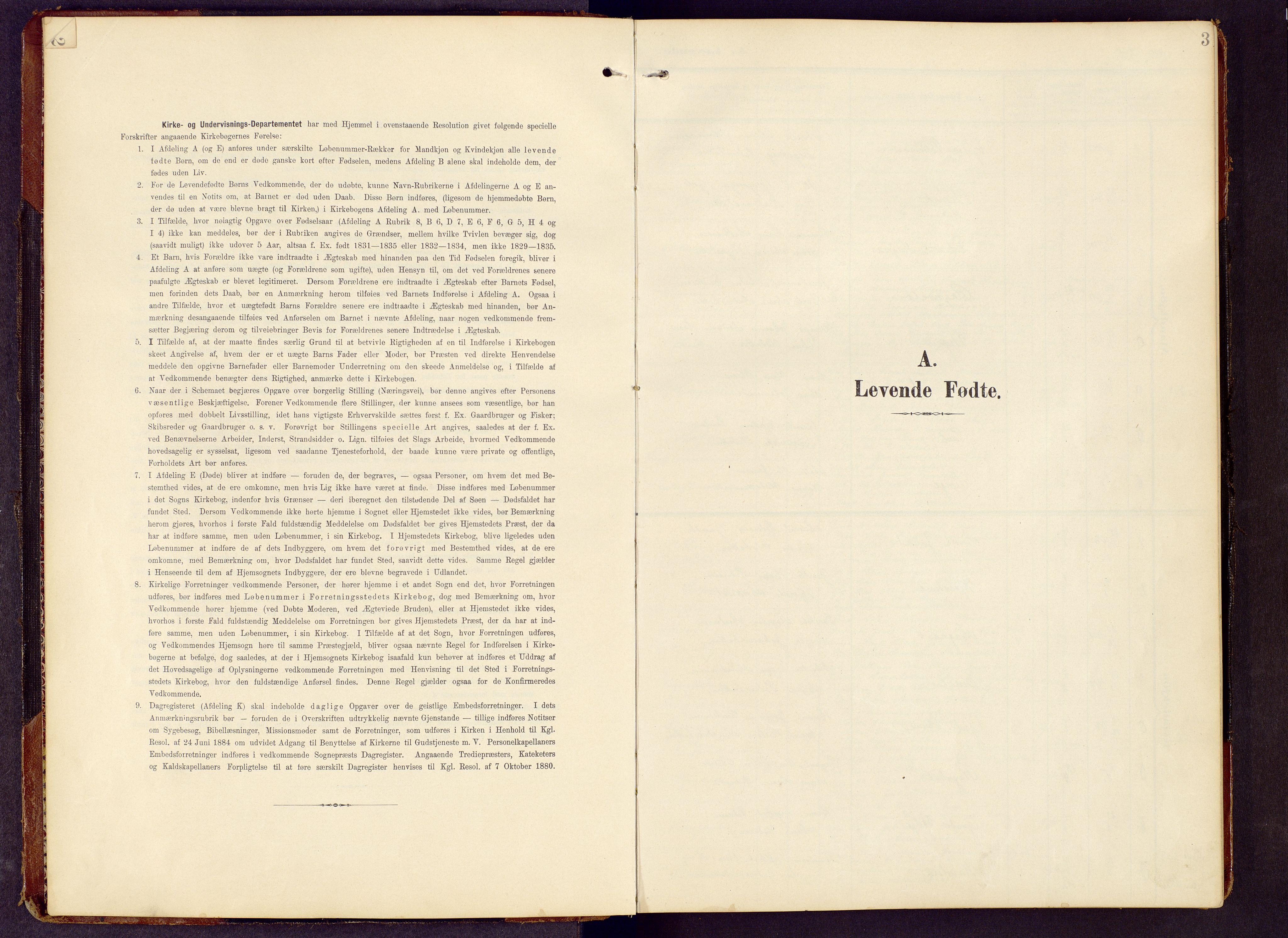 SAH, Brandbu prestekontor, Klokkerbok nr. 9, 1903-1916, s. 3