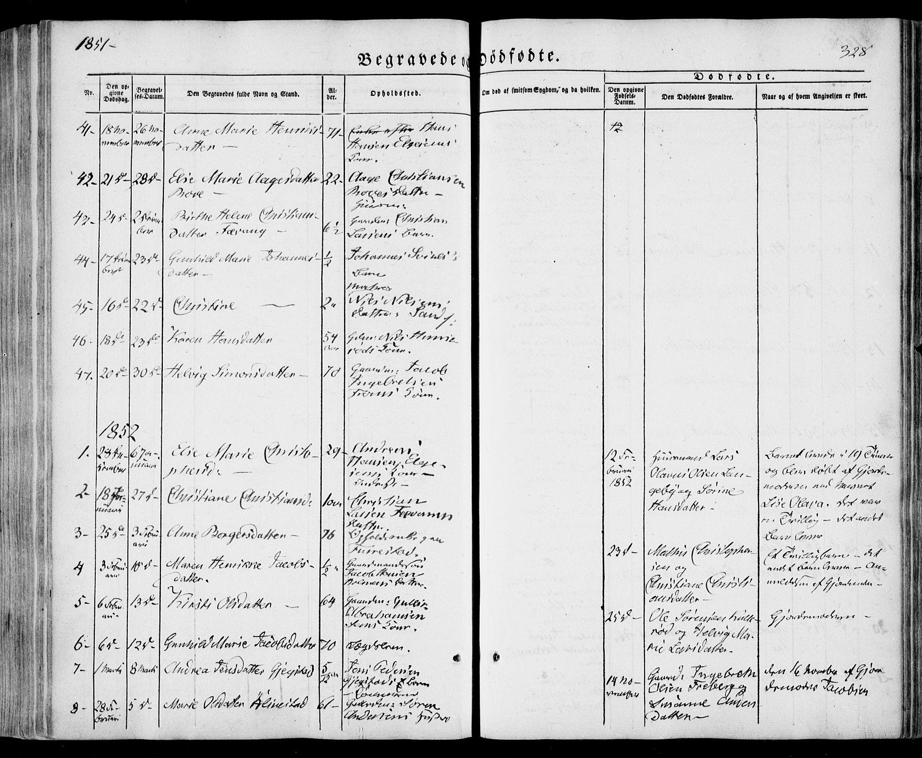 SAKO, Sandar kirkebøker, F/Fa/L0006: Ministerialbok nr. 6, 1847-1860, s. 328