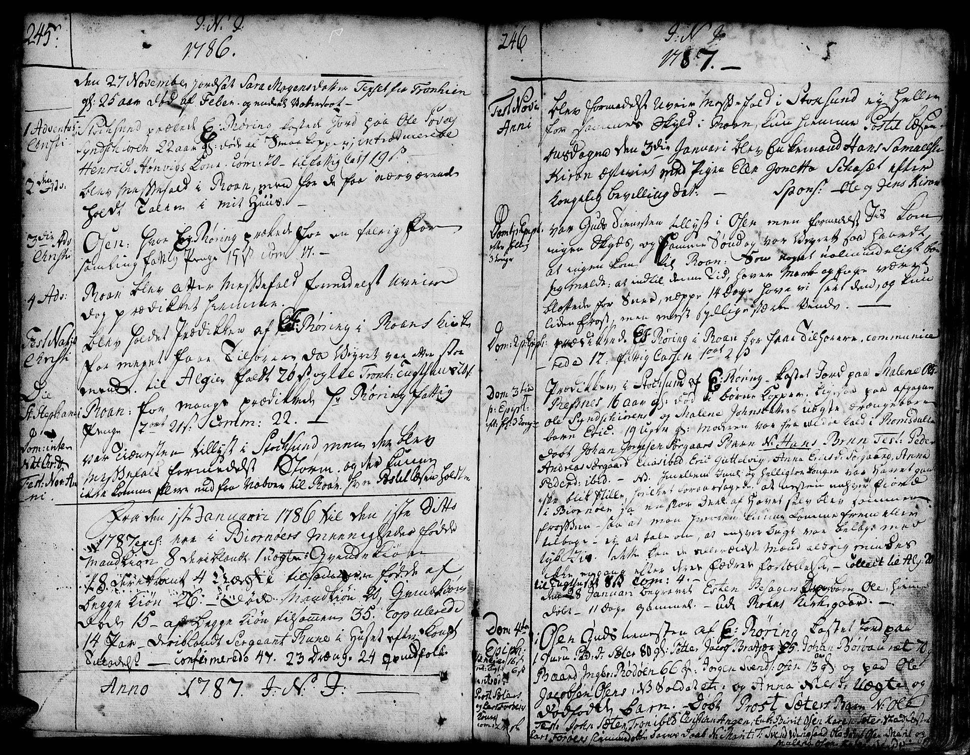 SAT, Ministerialprotokoller, klokkerbøker og fødselsregistre - Sør-Trøndelag, 657/L0700: Ministerialbok nr. 657A01, 1732-1801, s. 345-346