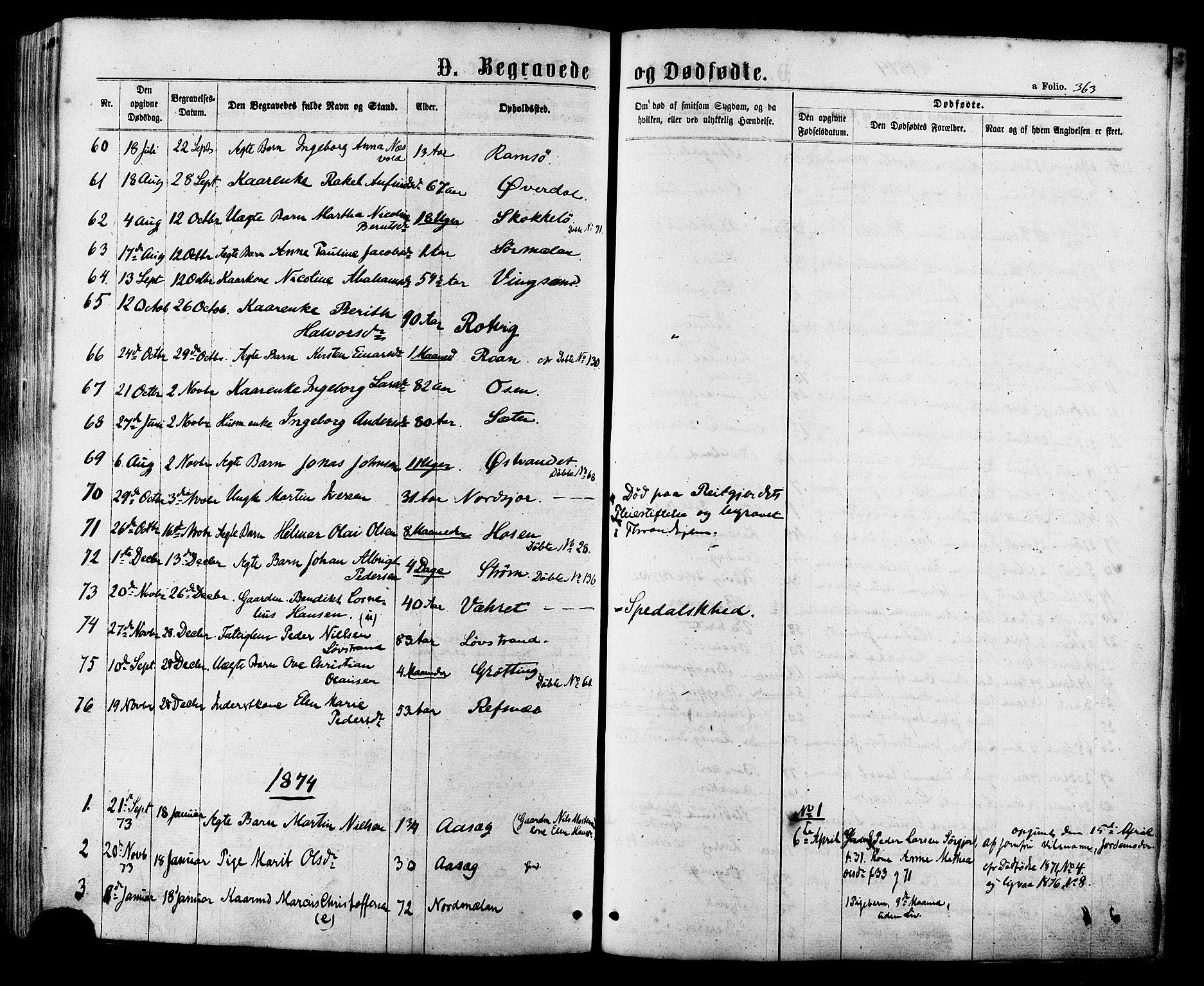 SAT, Ministerialprotokoller, klokkerbøker og fødselsregistre - Sør-Trøndelag, 657/L0706: Ministerialbok nr. 657A07, 1867-1878, s. 363