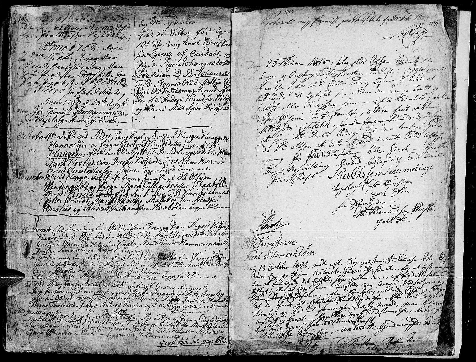 SAH, Slidre prestekontor, Ministerialbok nr. 1, 1724-1814, s. 1140-1141
