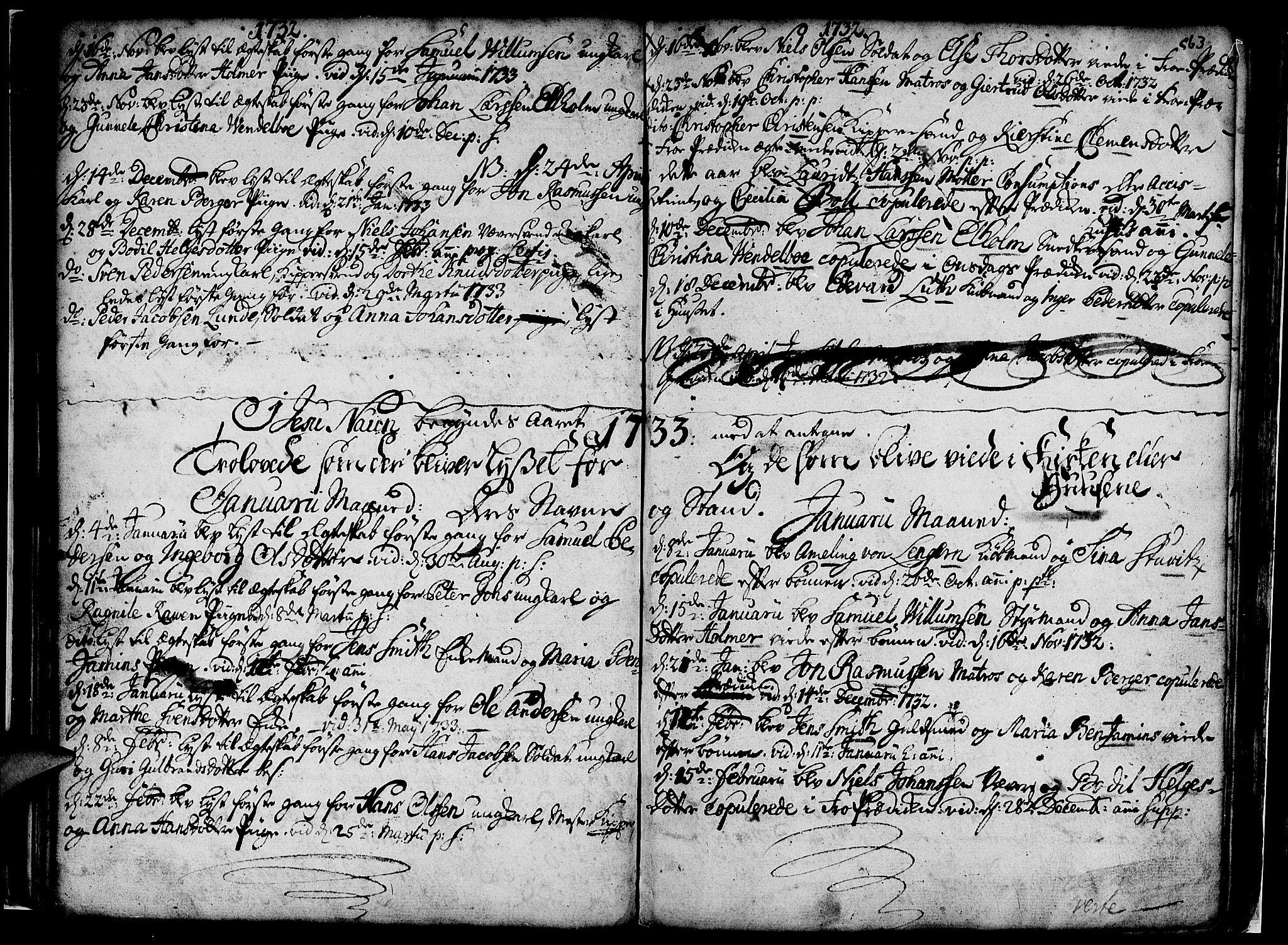 SAB, Nykirken Sokneprestembete, H/Haa: Ministerialbok nr. A 7, 1719-1781, s. 63