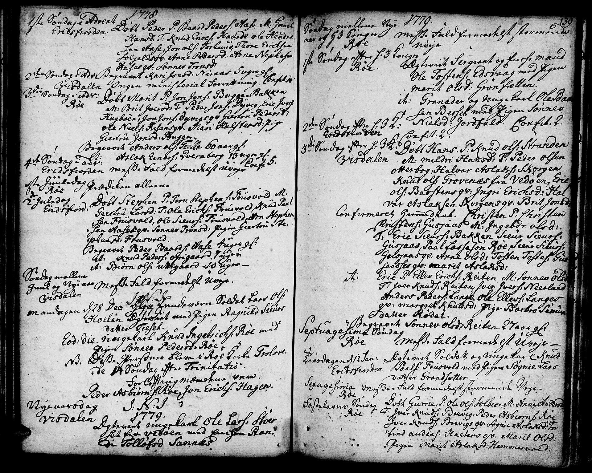 SAT, Ministerialprotokoller, klokkerbøker og fødselsregistre - Møre og Romsdal, 551/L0621: Ministerialbok nr. 551A01, 1757-1803, s. 139