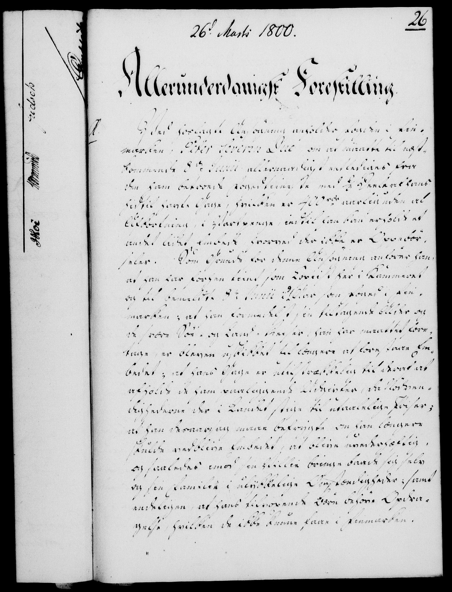 RA, Rentekammeret, Kammerkanselliet, G/Gf/Gfa/L0082: Norsk relasjons- og resolusjonsprotokoll (merket RK 52.82), 1800, s. 171