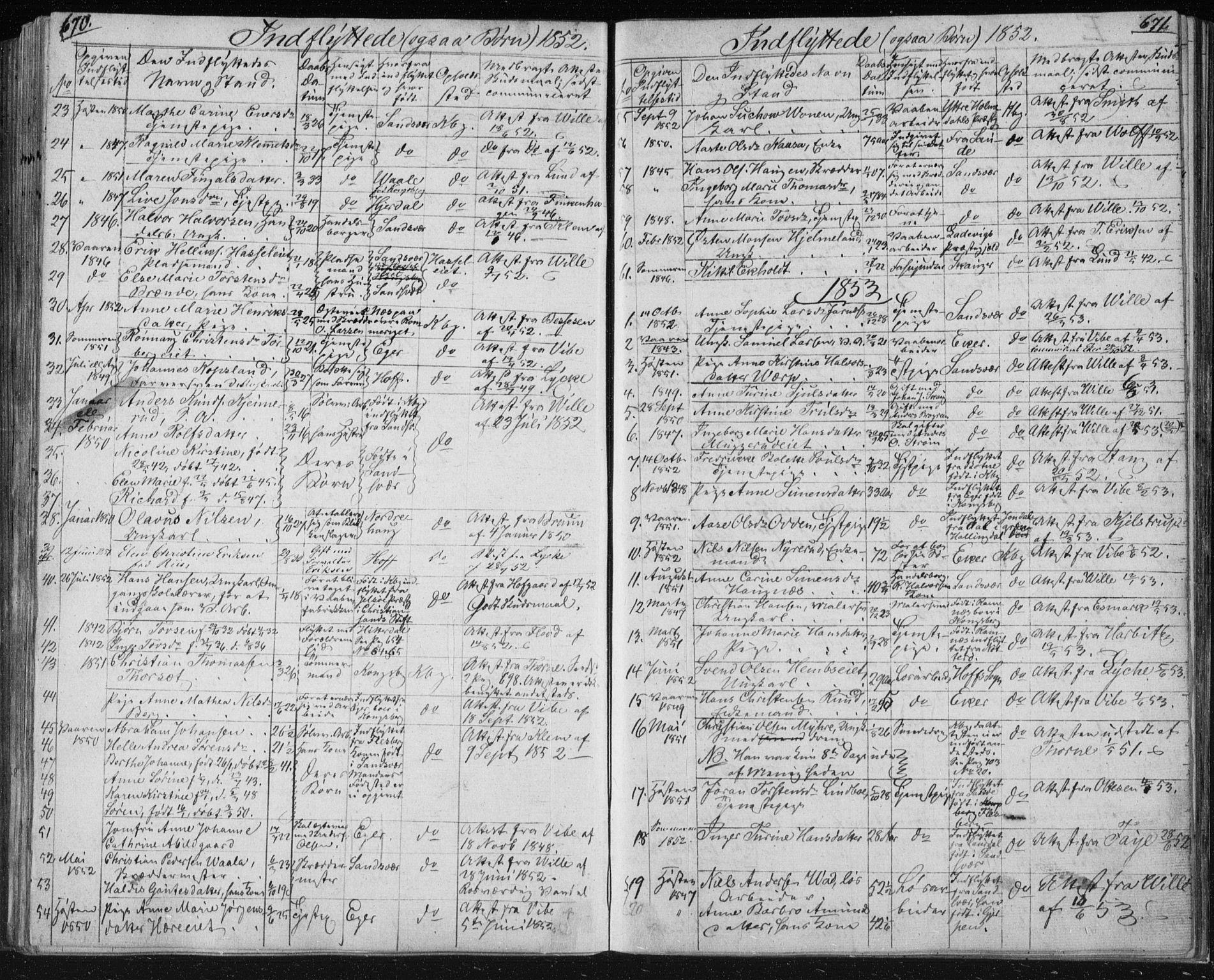 SAKO, Kongsberg kirkebøker, F/Fa/L0009: Ministerialbok nr. I 9, 1839-1858, s. 670-671