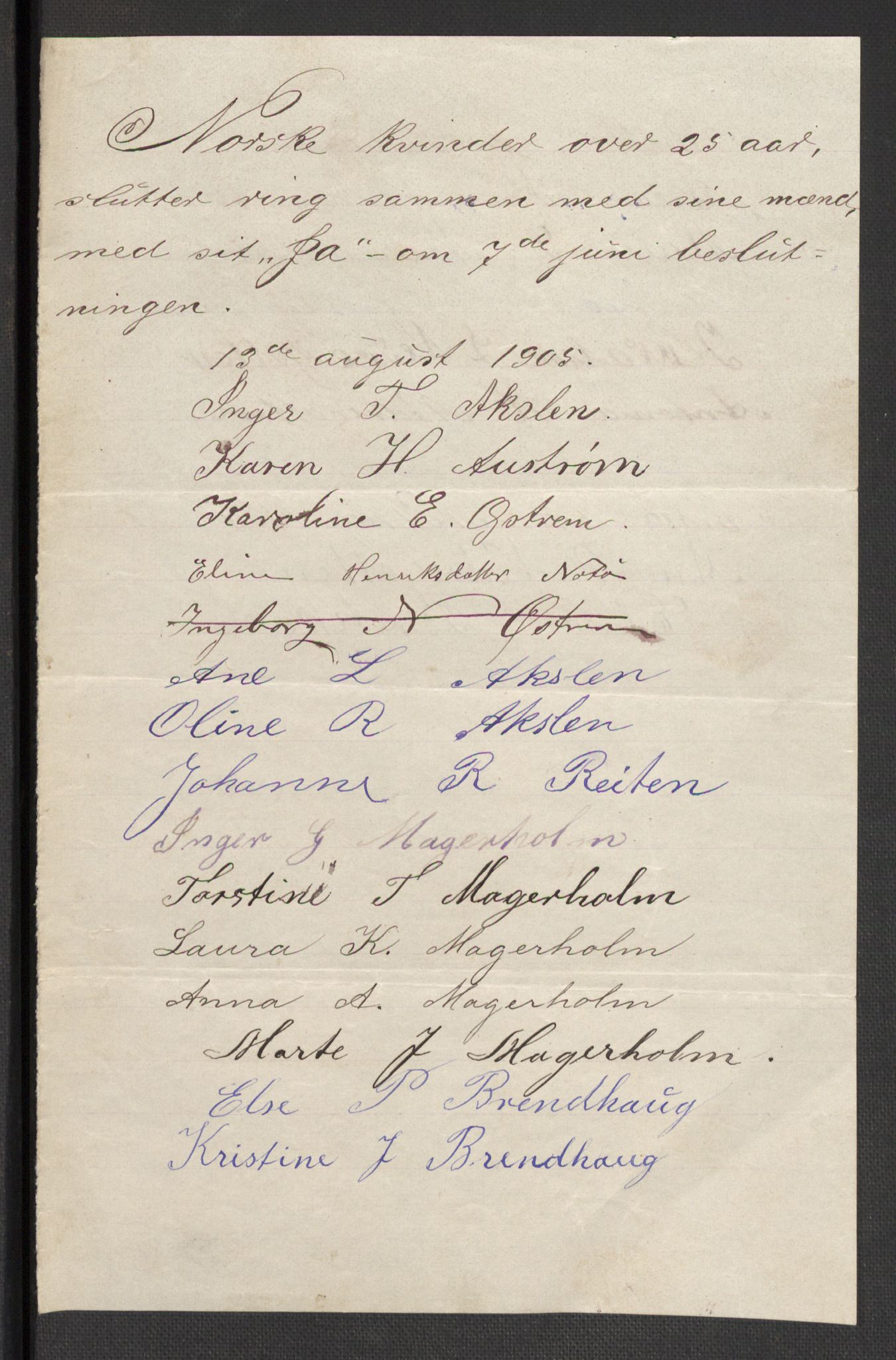 RA, Justisdepartementet, 2. sivilkontor C, F/L0125B: Folkeavstemmingen august 1905, 1905, s. 79