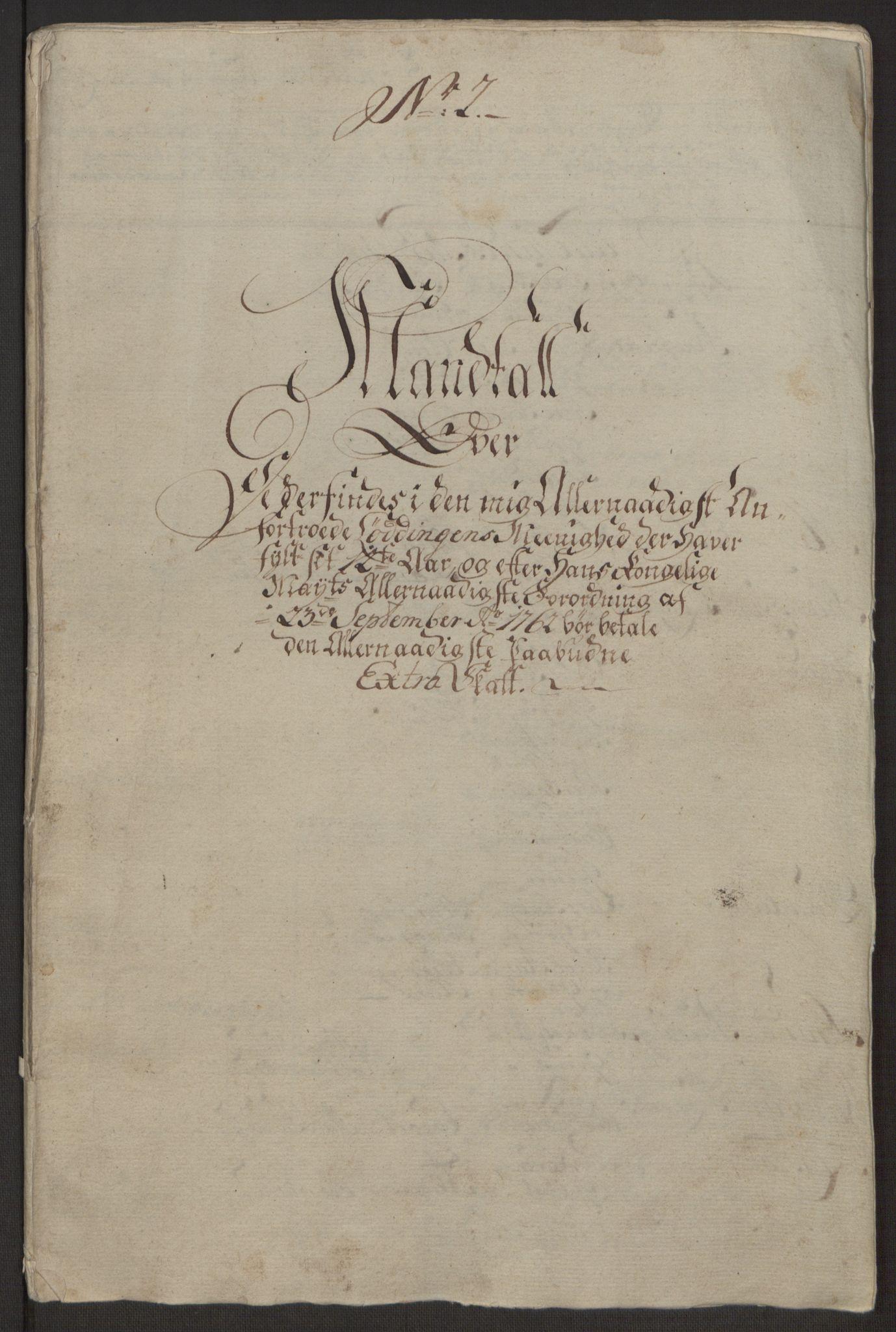 RA, Rentekammeret inntil 1814, Realistisk ordnet avdeling, Ol/L0022a: [Gg 10]: Ekstraskatten, 23.09.1762. Nordlands amt, 1762-1763, s. 23