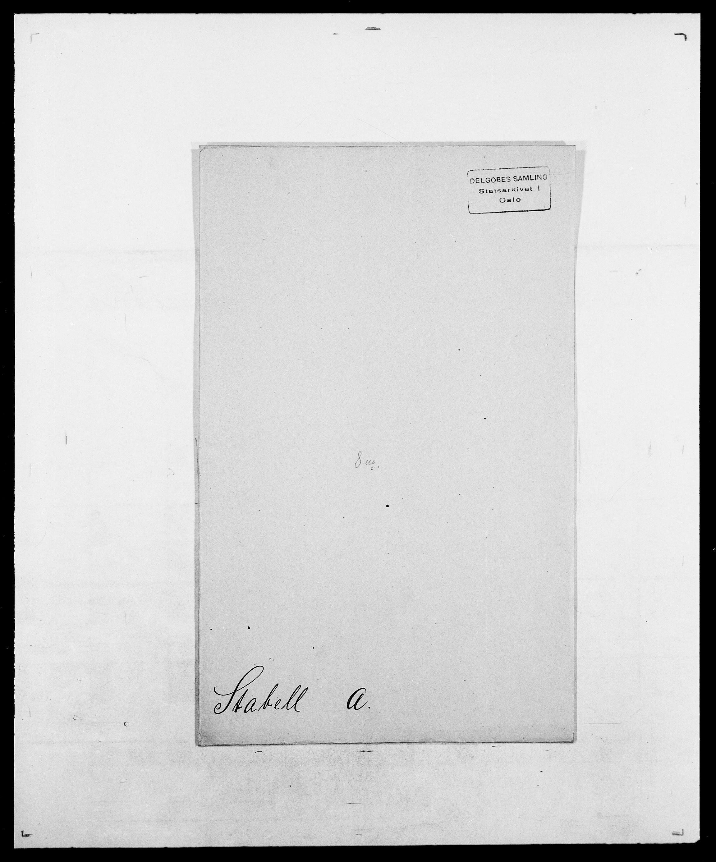 SAO, Delgobe, Charles Antoine - samling, D/Da/L0036: Skaanør - Staverskov, s. 609