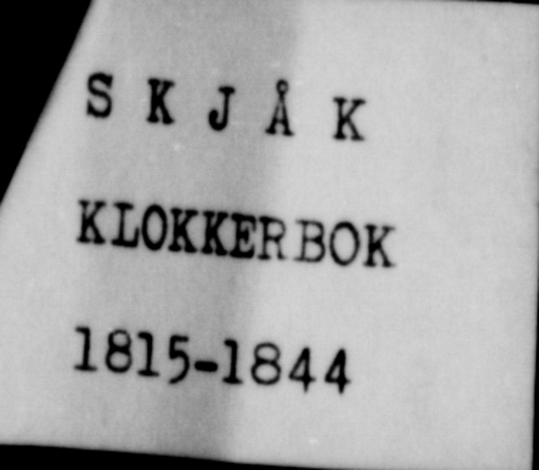 SAH, Lom prestekontor, L/L0003: Klokkerbok nr. 3, 1815-1844