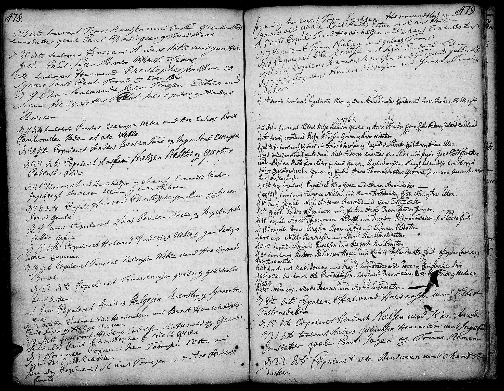 SAH, Vang prestekontor, Valdres, Ministerialbok nr. 1, 1730-1796, s. 478-479