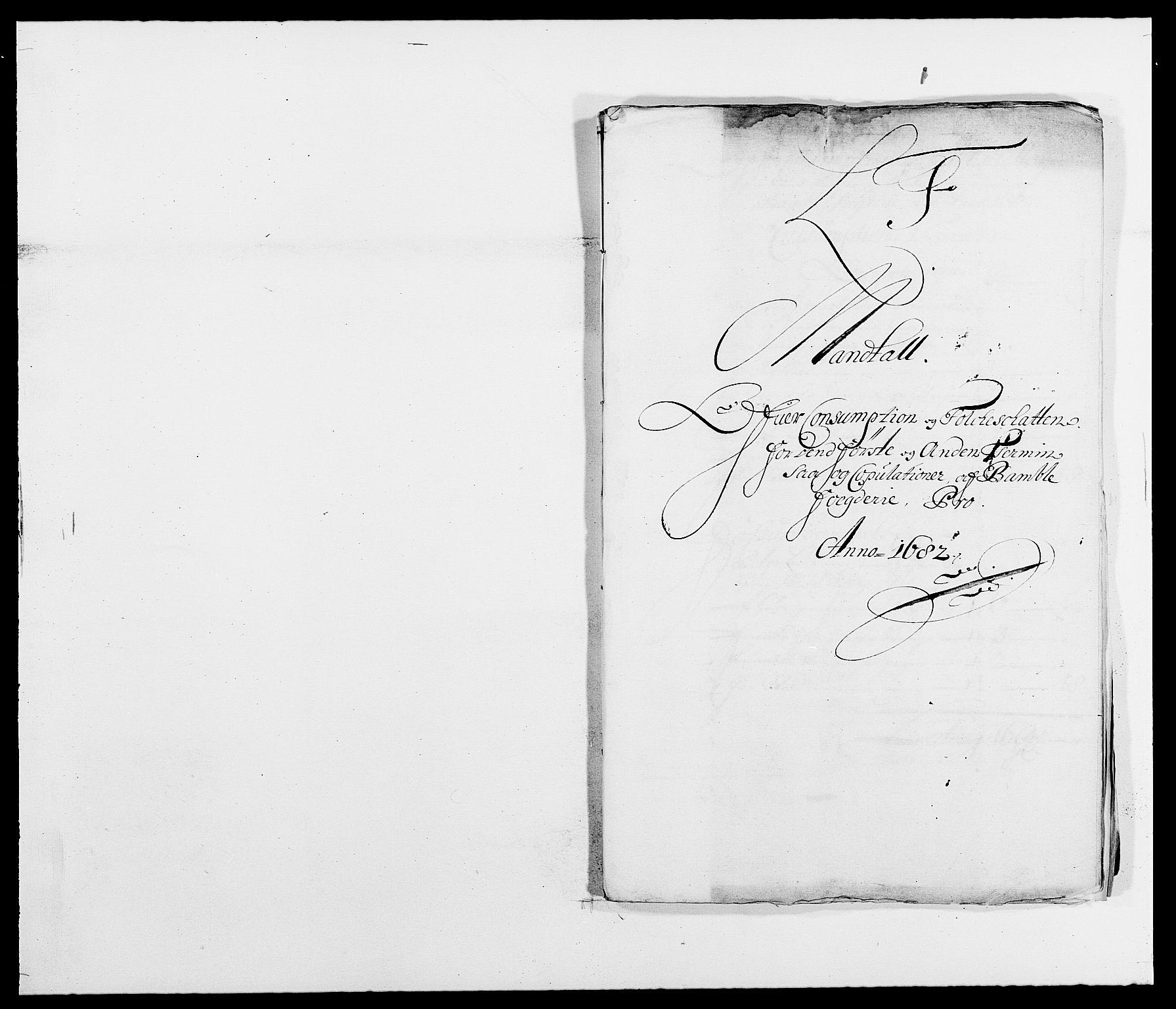 RA, Rentekammeret inntil 1814, Reviderte regnskaper, Fogderegnskap, R34/L2046: Fogderegnskap Bamble, 1682-1683, s. 152