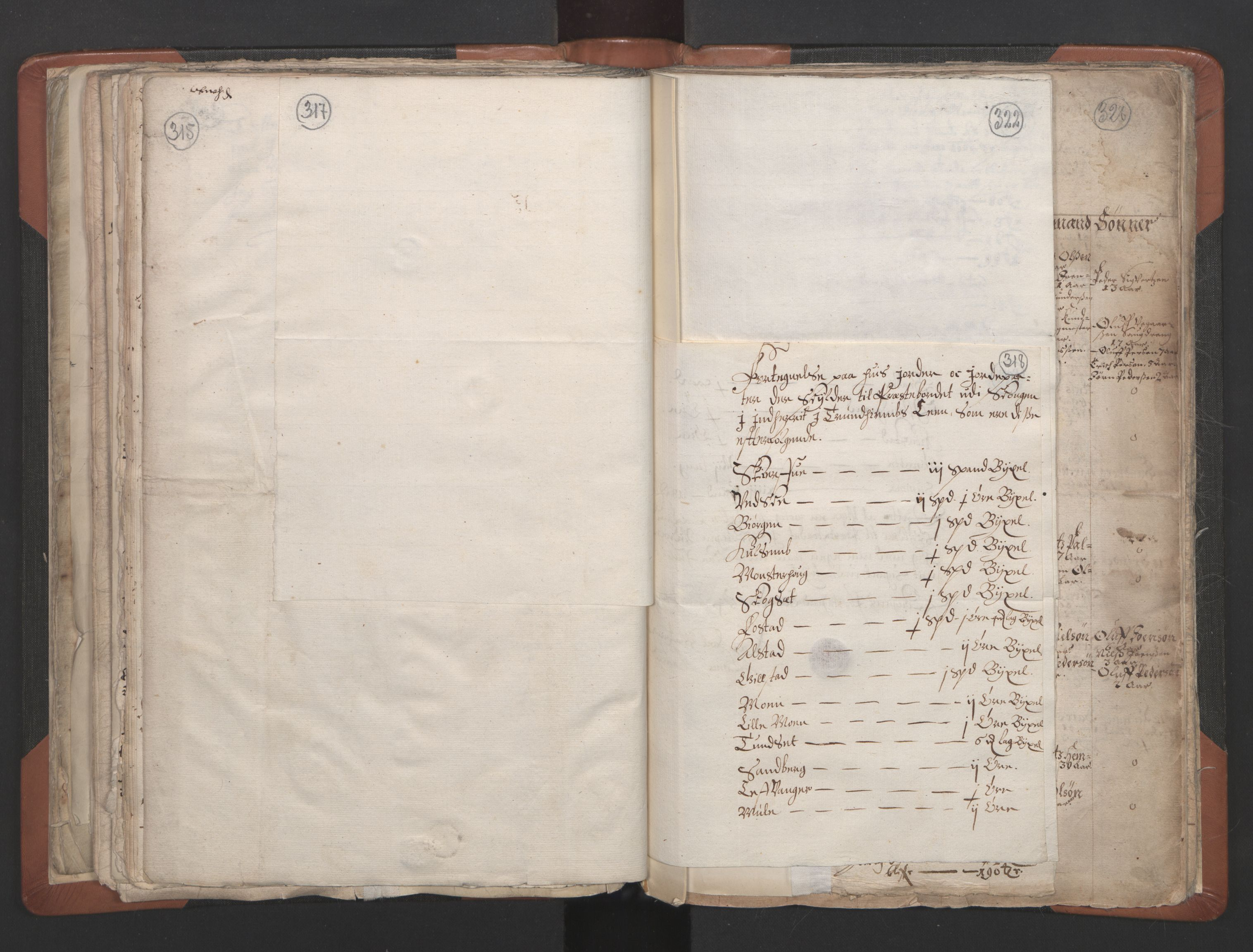 RA, Sogneprestenes manntall 1664-1666, nr. 32: Innherad prosti, 1664-1666, s. 317-318
