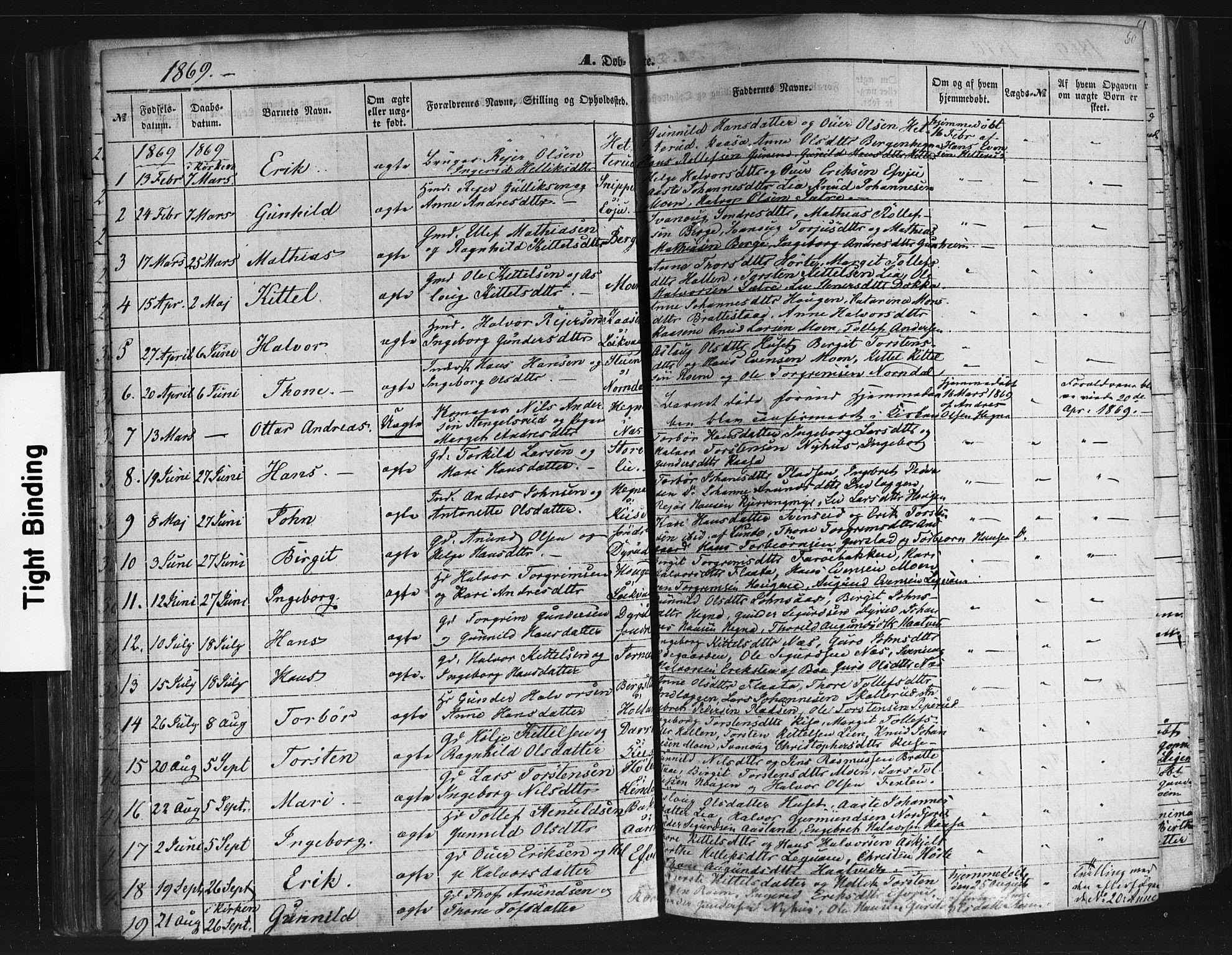 SAKO, Sauherad kirkebøker, F/Fb/L0001: Ministerialbok nr. II 1, 1851-1877, s. 60