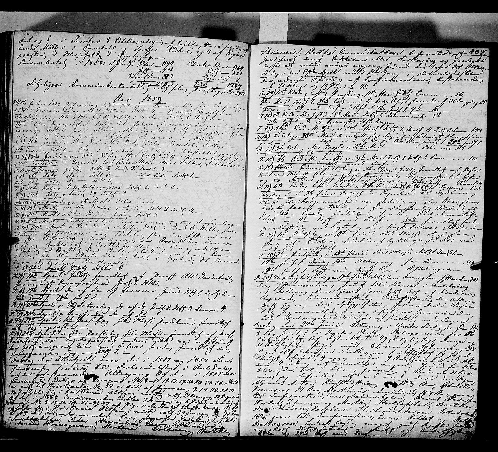 SAH, Romedal prestekontor, K/L0004: Ministerialbok nr. 4, 1847-1861, s. 407