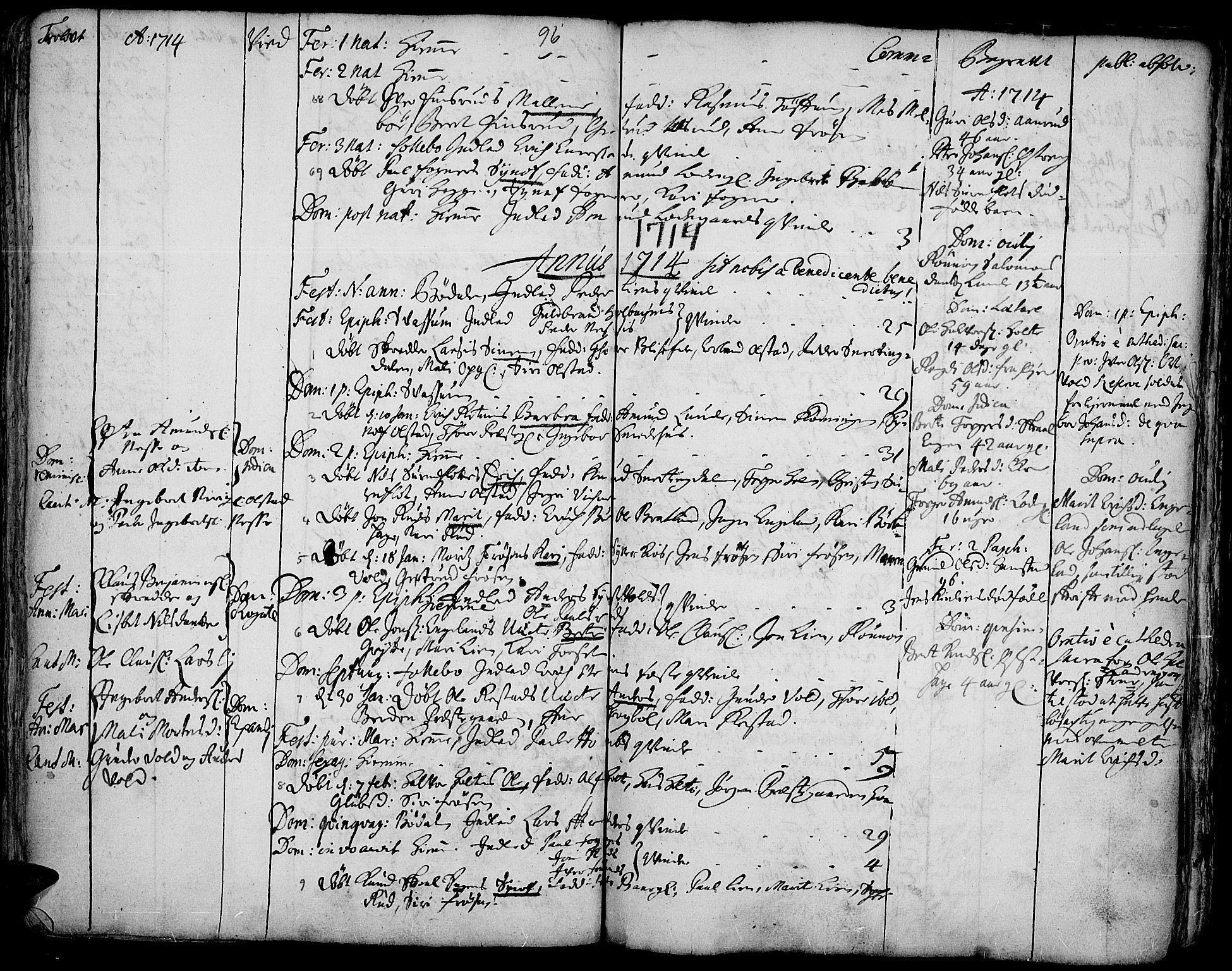 SAH, Gausdal prestekontor, Ministerialbok nr. 1, 1693-1728, s. 96