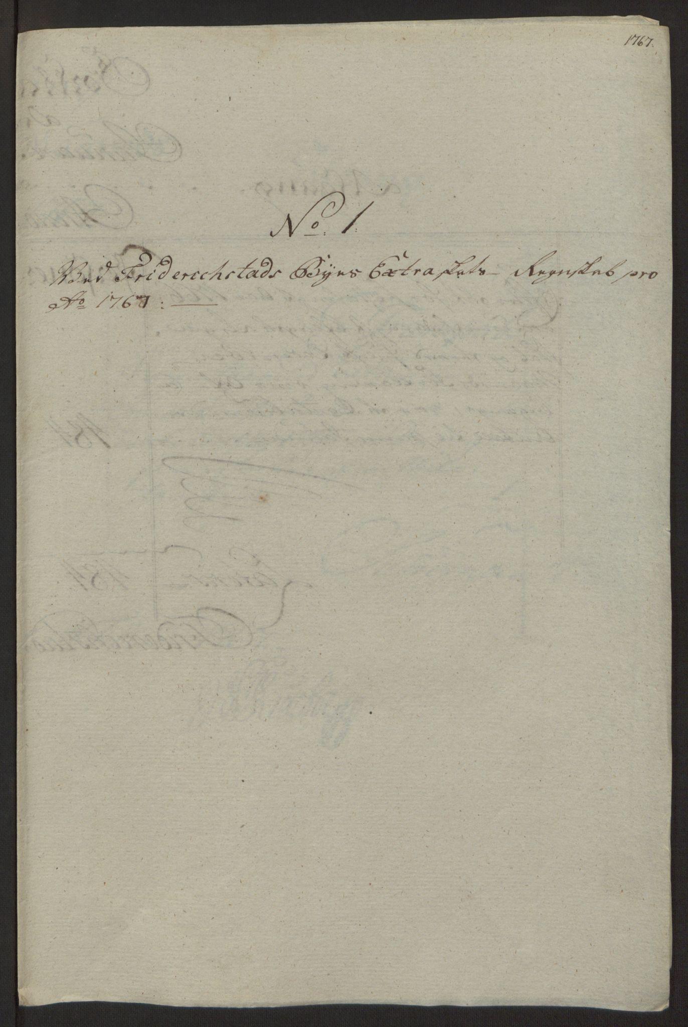 RA, Rentekammeret inntil 1814, Reviderte regnskaper, Byregnskaper, R/Rb/L0029: [B3] Kontribusjonsregnskap, 1762-1772, s. 246