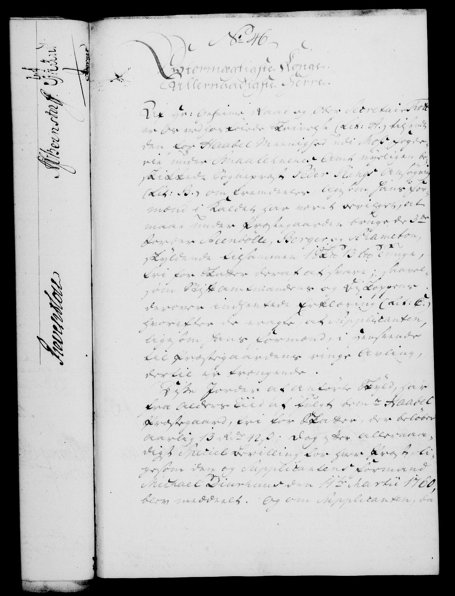 RA, Rentekammeret, Kammerkanselliet, G/Gf/Gfa/L0047: Norsk relasjons- og resolusjonsprotokoll (merket RK 52.47), 1765, s. 222