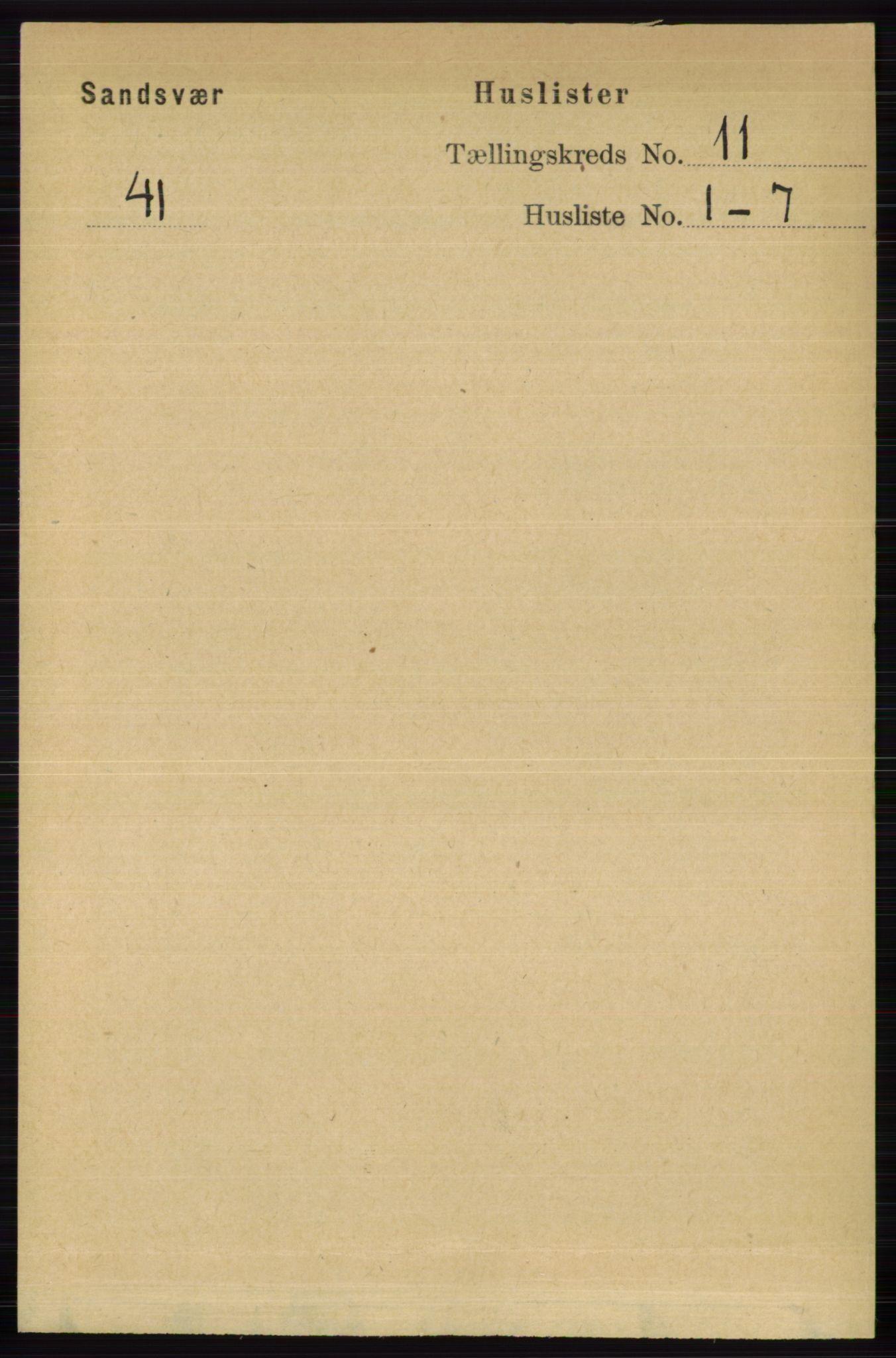 RA, Folketelling 1891 for 0629 Sandsvær herred, 1891, s. 5474