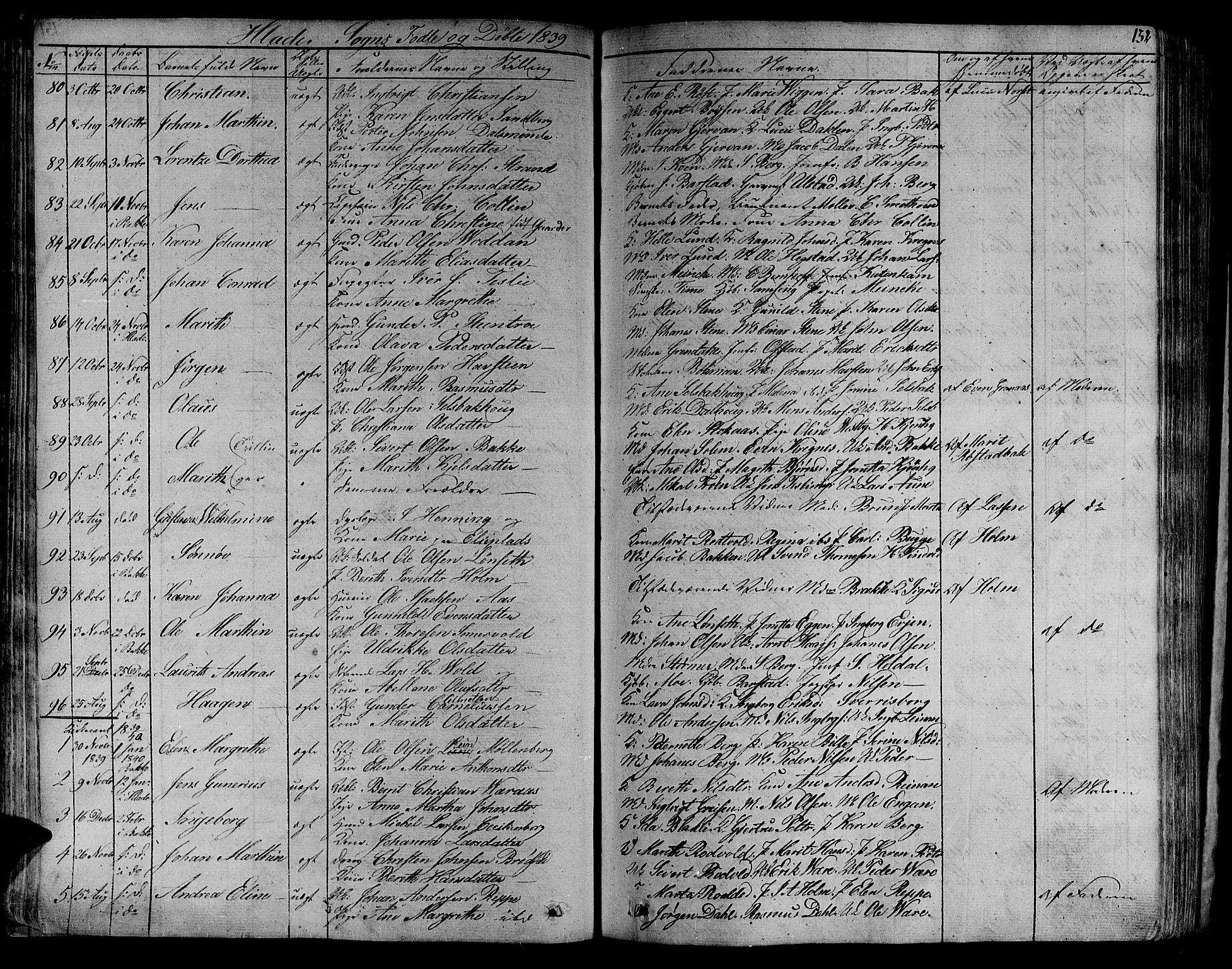 SAT, Ministerialprotokoller, klokkerbøker og fødselsregistre - Sør-Trøndelag, 606/L0286: Ministerialbok nr. 606A04 /1, 1823-1840, s. 132