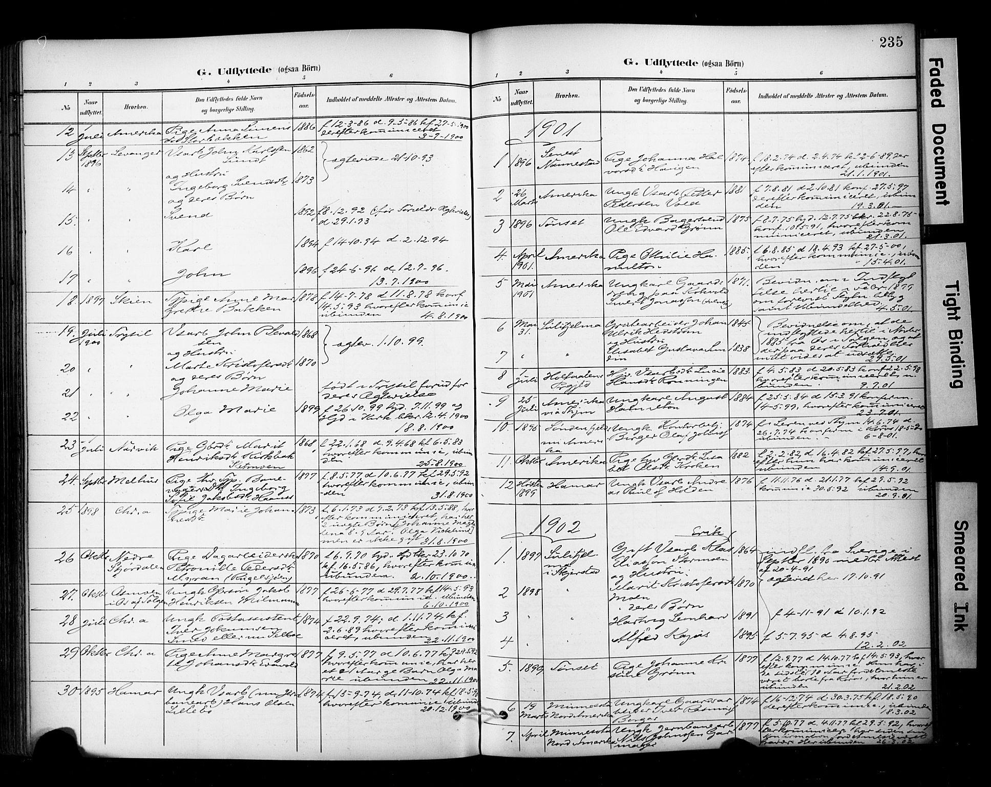 SAT, Ministerialprotokoller, klokkerbøker og fødselsregistre - Sør-Trøndelag, 681/L0936: Ministerialbok nr. 681A14, 1899-1908, s. 235