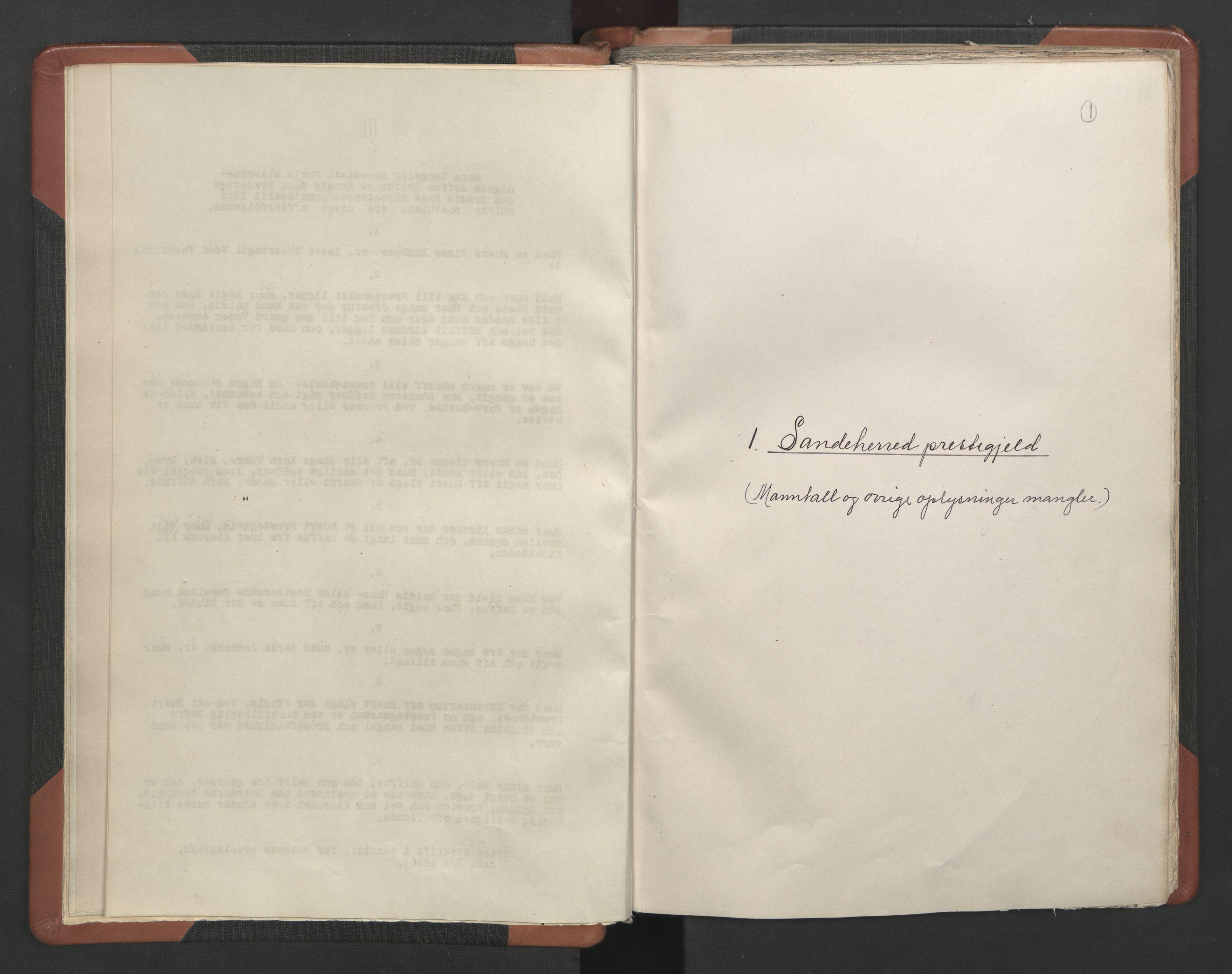 RA, Sogneprestenes manntall 1664-1666, nr. 11: Brunlanes prosti, 1664-1666, s. 1