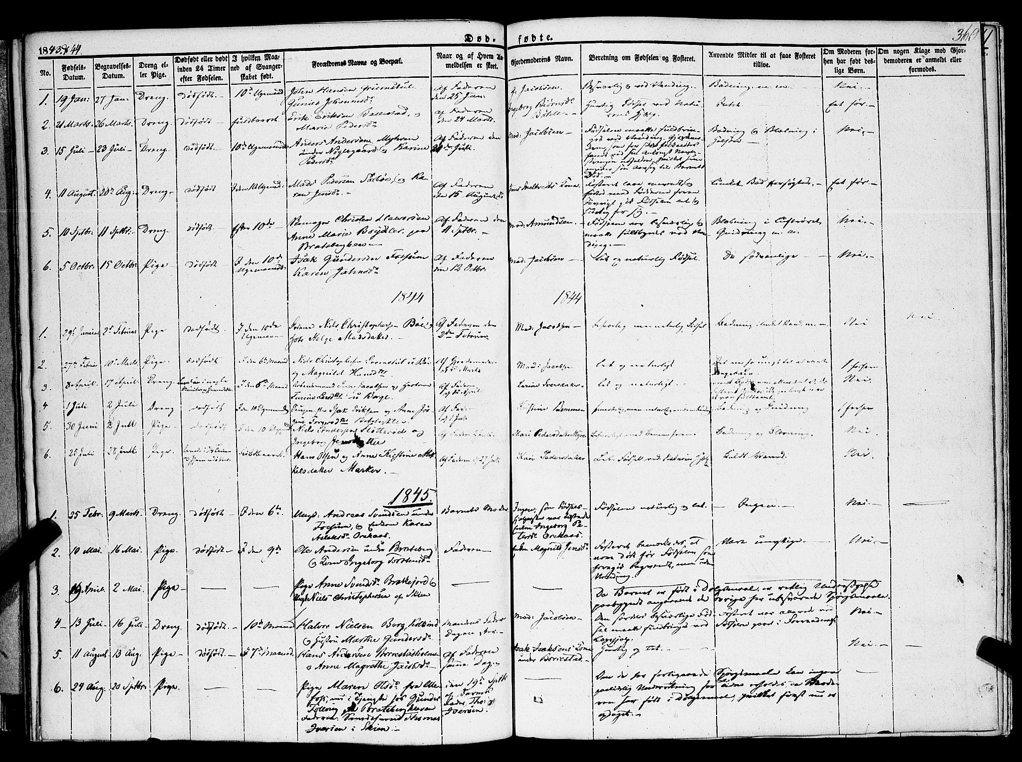 SAKO, Gjerpen kirkebøker, F/Fa/L0007b: Ministerialbok nr. 7B, 1834-1857, s. 360