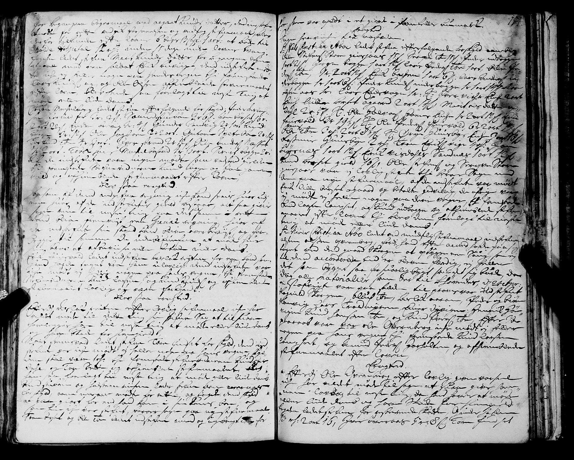SAT, Romsdal sorenskriveri, 1/1A/L0008: Tingbok, 1714-1721, s. 153b-154a