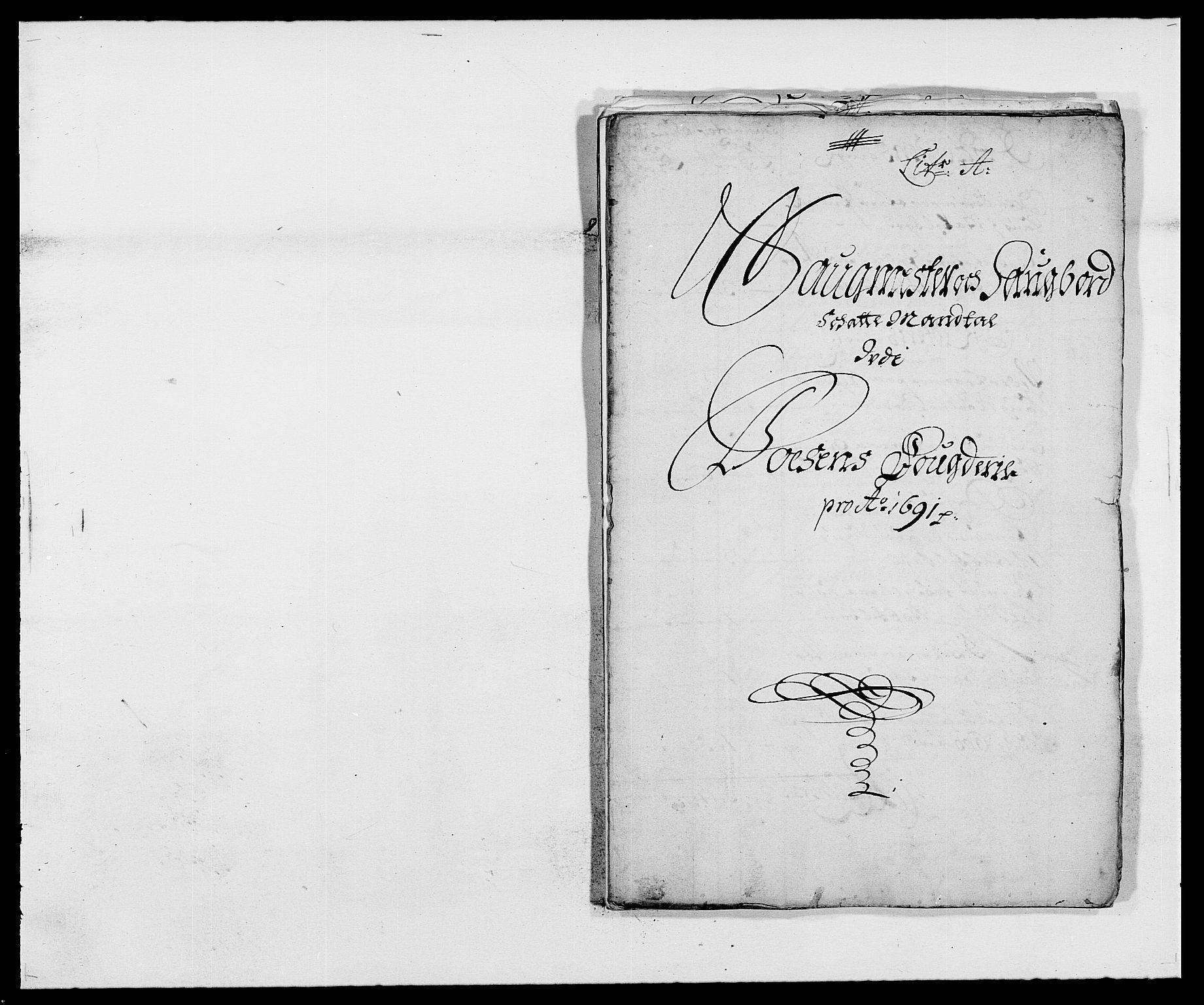 RA, Rentekammeret inntil 1814, Reviderte regnskaper, Fogderegnskap, R57/L3848: Fogderegnskap Fosen, 1690-1691, s. 212