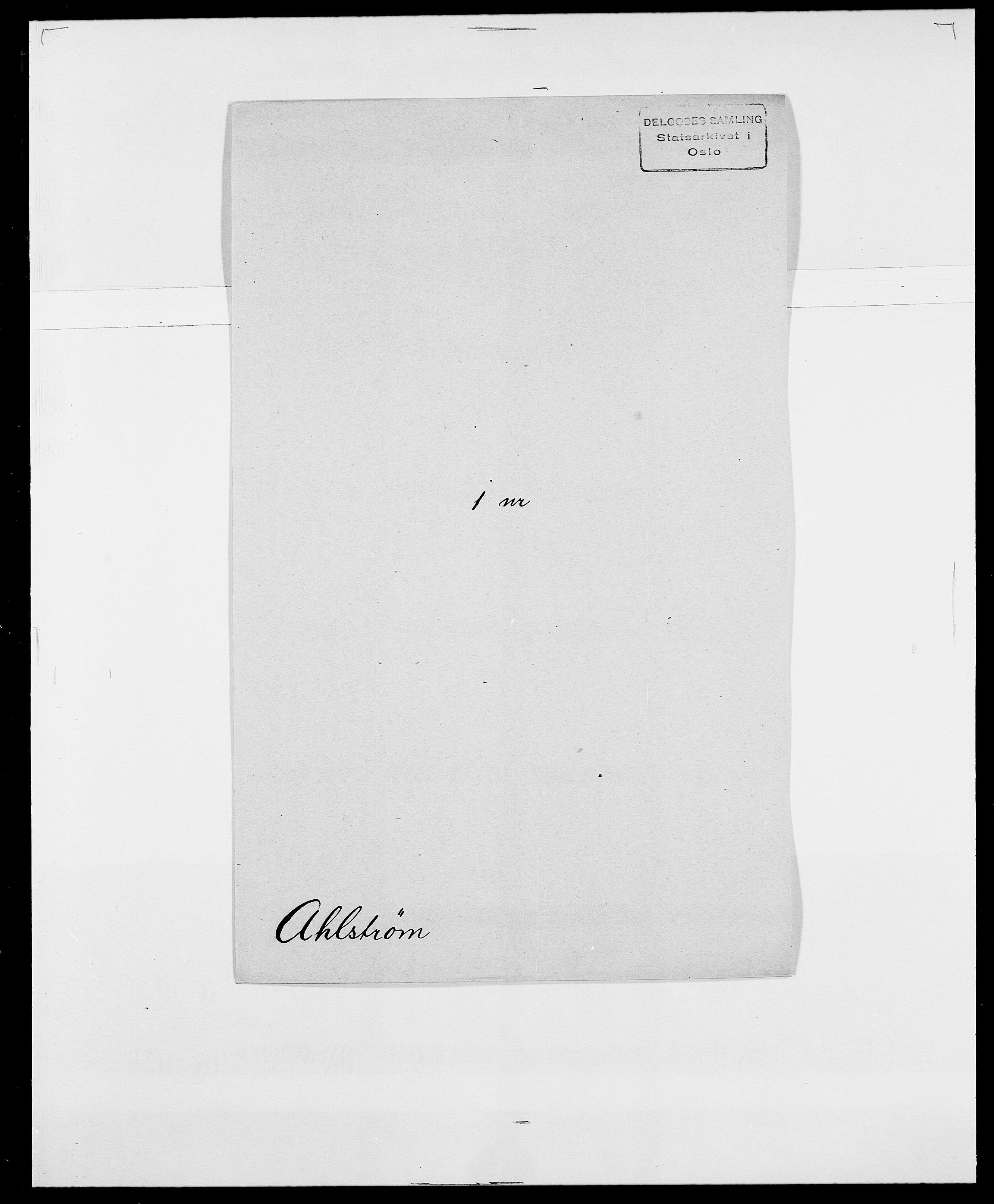 SAO, Delgobe, Charles Antoine - samling, D/Da/L0001: Aabye - Angerman, s. 340