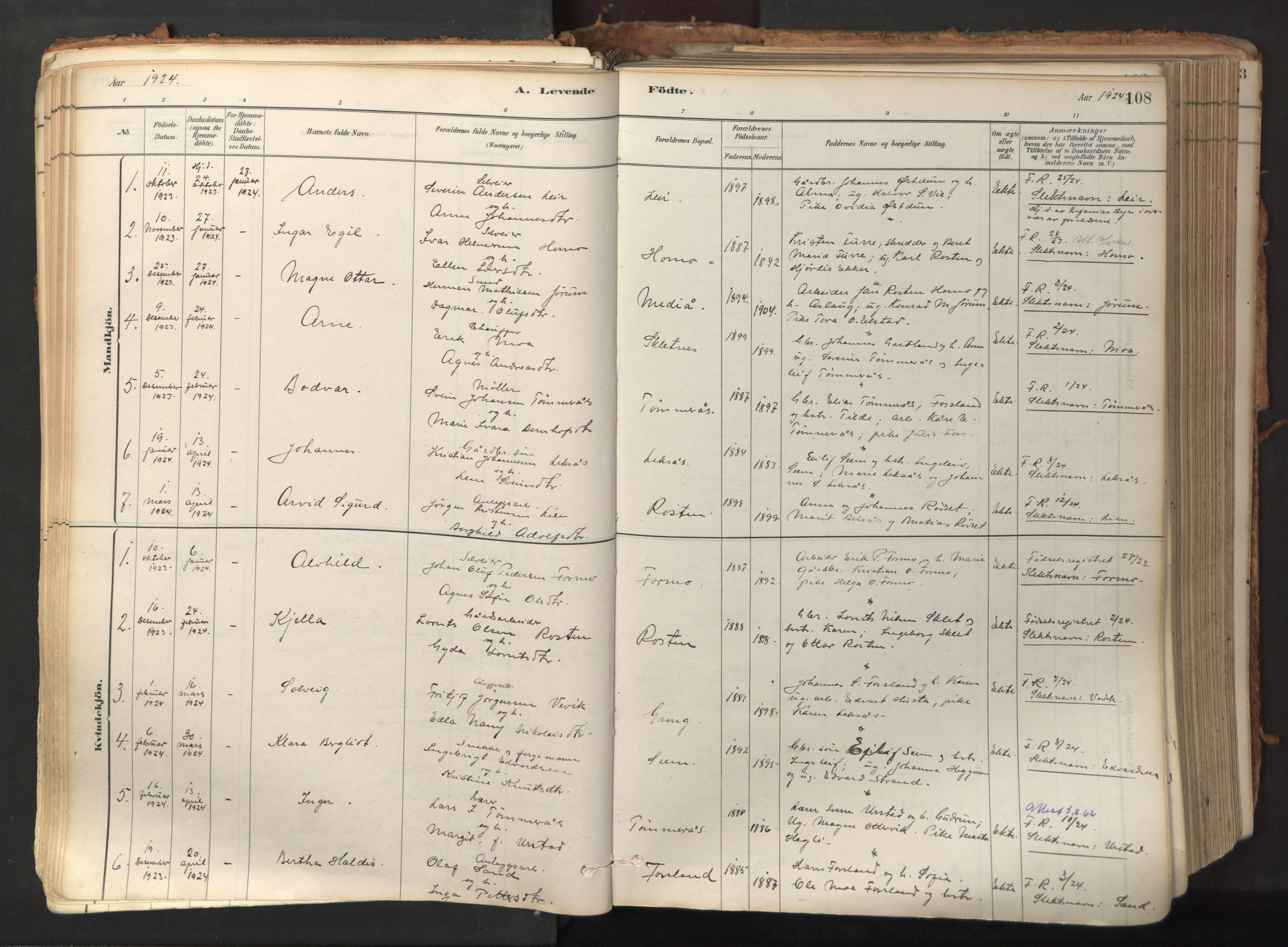 SAT, Ministerialprotokoller, klokkerbøker og fødselsregistre - Nord-Trøndelag, 758/L0519: Ministerialbok nr. 758A04, 1880-1926, s. 108