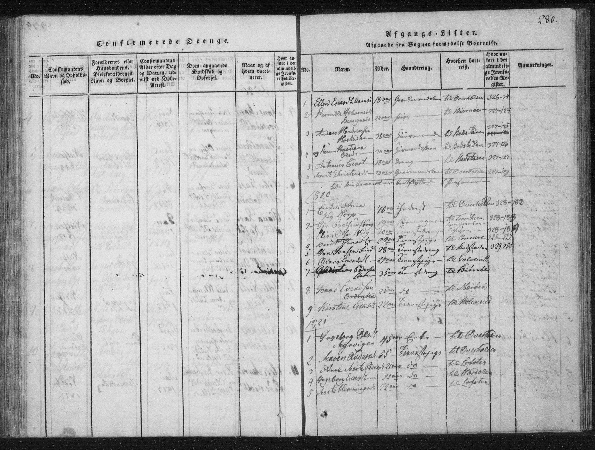 SAT, Ministerialprotokoller, klokkerbøker og fødselsregistre - Nord-Trøndelag, 773/L0609: Ministerialbok nr. 773A03 /1, 1815-1830, s. 280