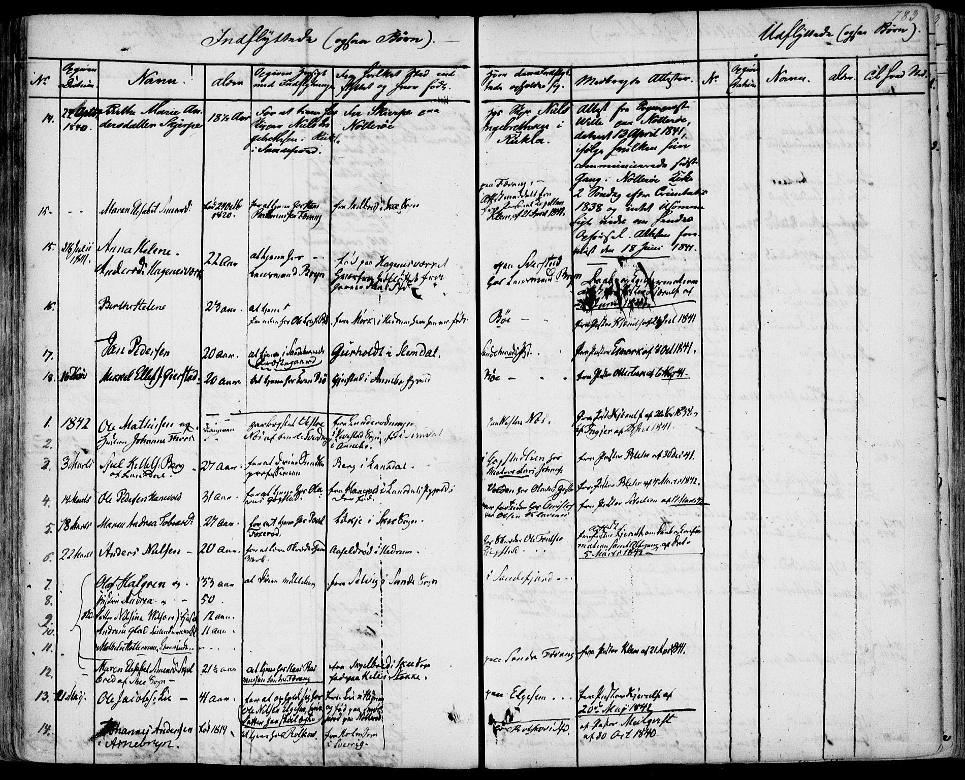 SAKO, Sandar kirkebøker, F/Fa/L0005: Ministerialbok nr. 5, 1832-1847, s. 782-783